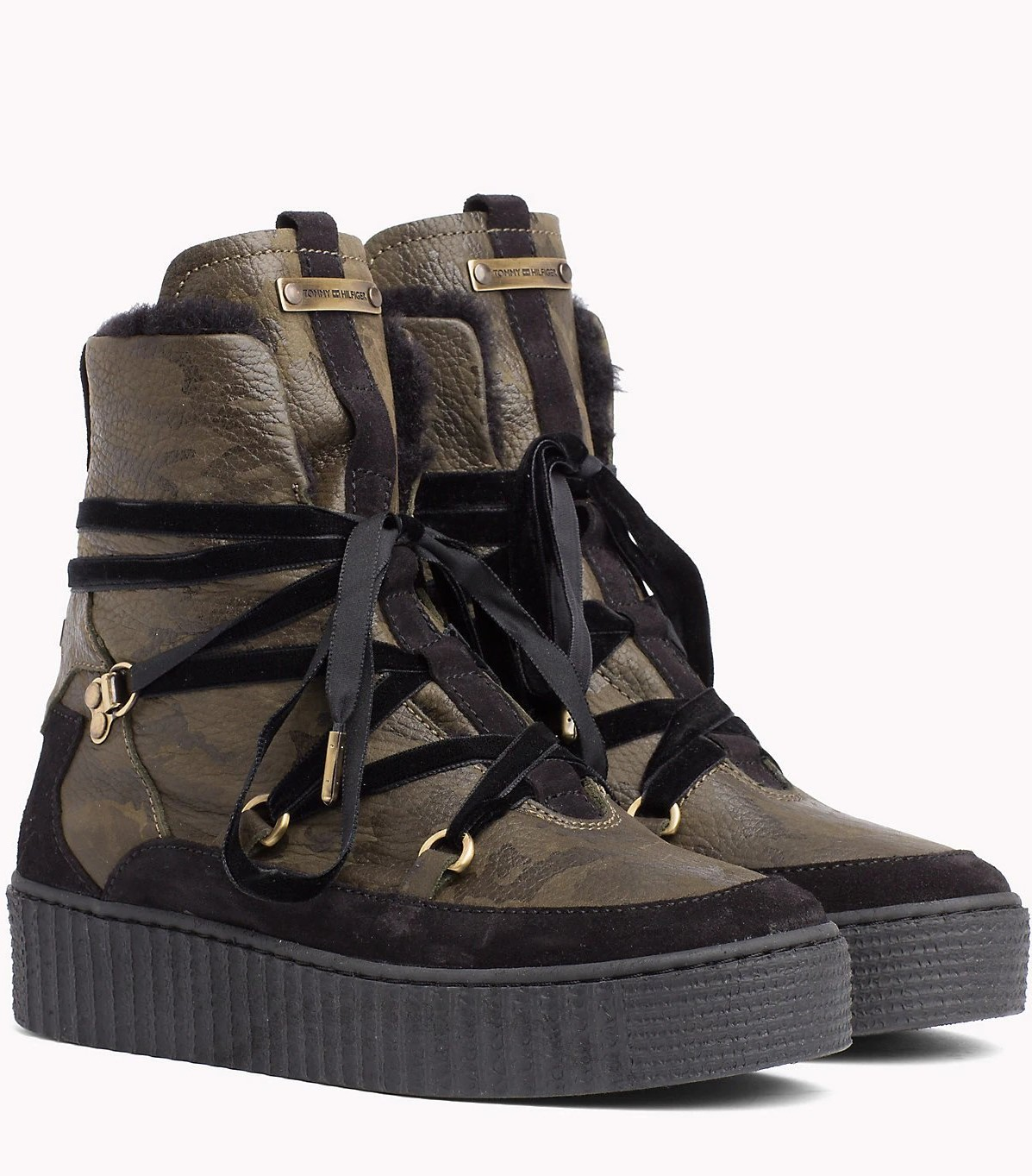 winter leather boots Tommy Hilfiger