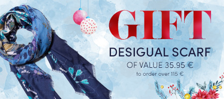 GIFT DESIGUAL SCARF OF VALUE 35.95 €