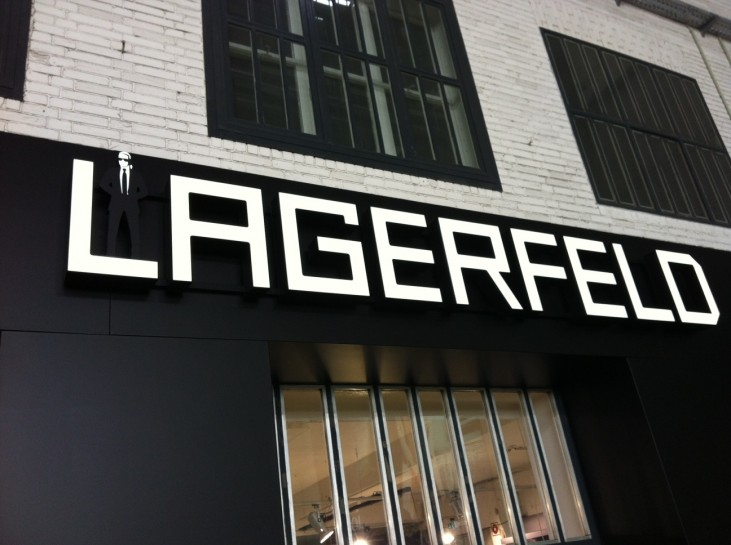 The divine Karl Lagerfeld was also exhibited there