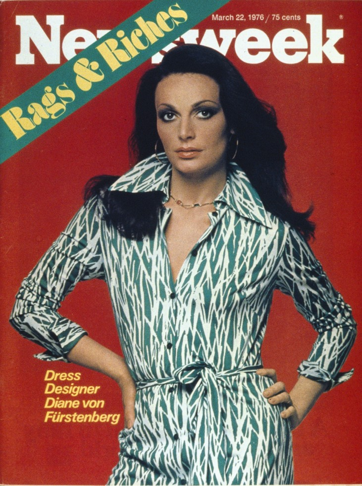 Diane von Furstenberg on the cover of Newsweek in dresses