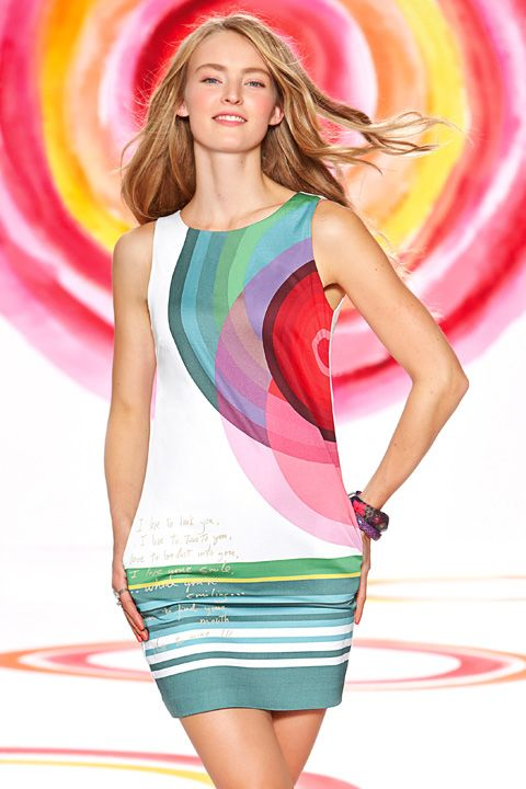 Colorful summer dress Desigual.