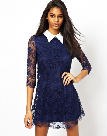 Lace dress with collar. Source: asos.com