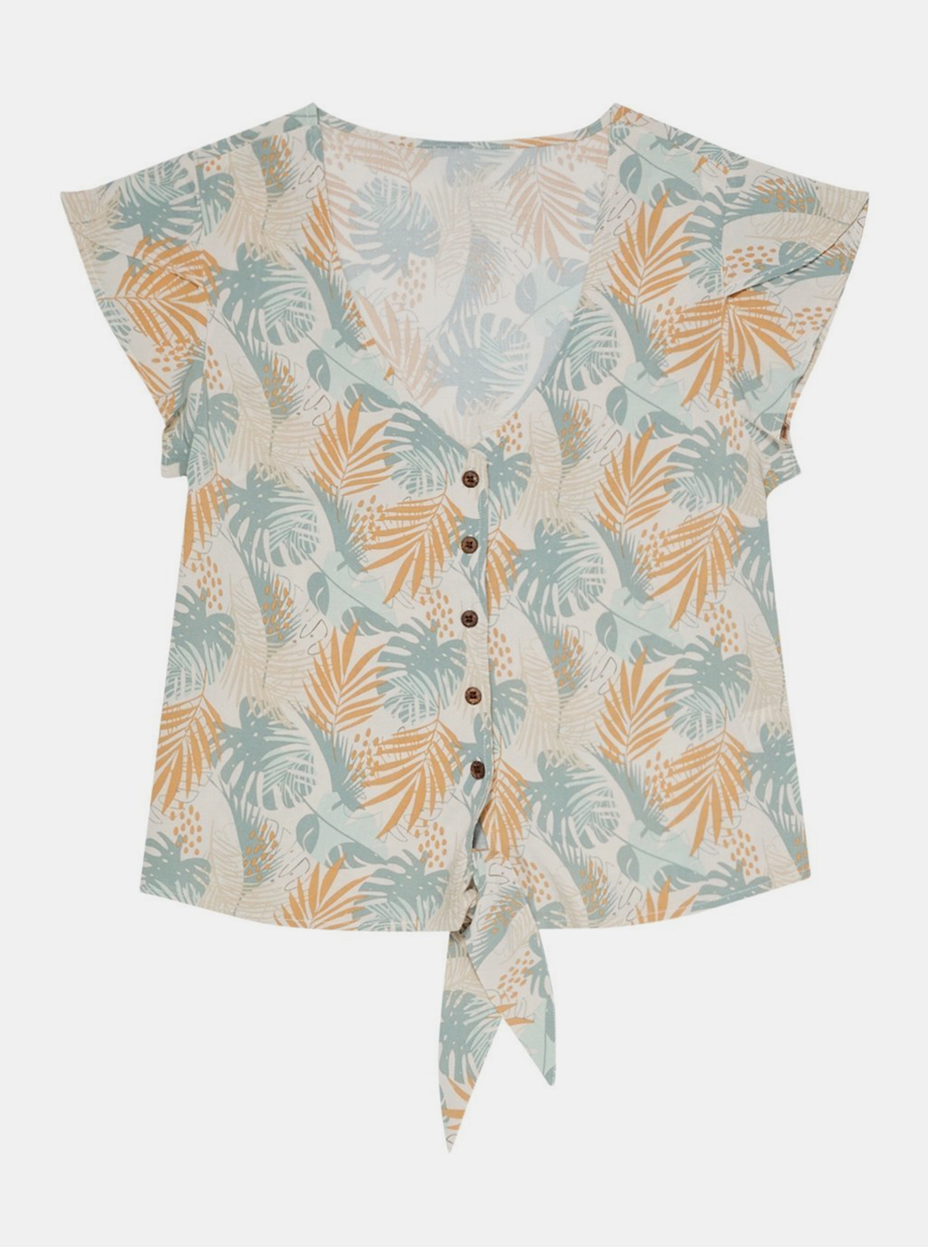 Moodo beige blouse with floral motif