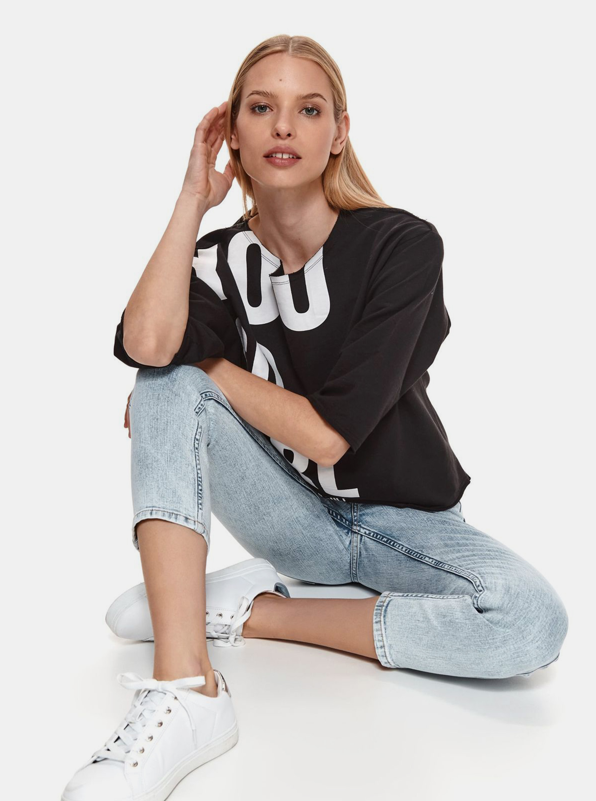 TOP SECRET black women´s T-shirt with print