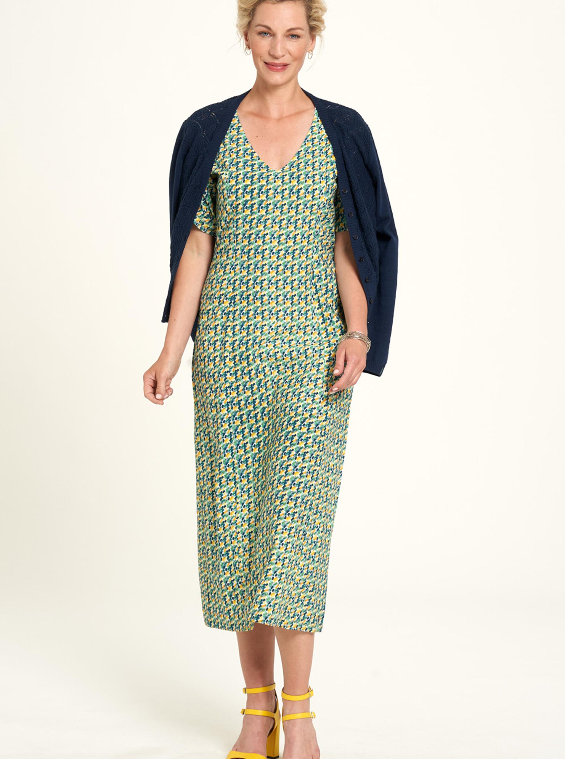 Tranquillo multicolor midi dress with small pattern