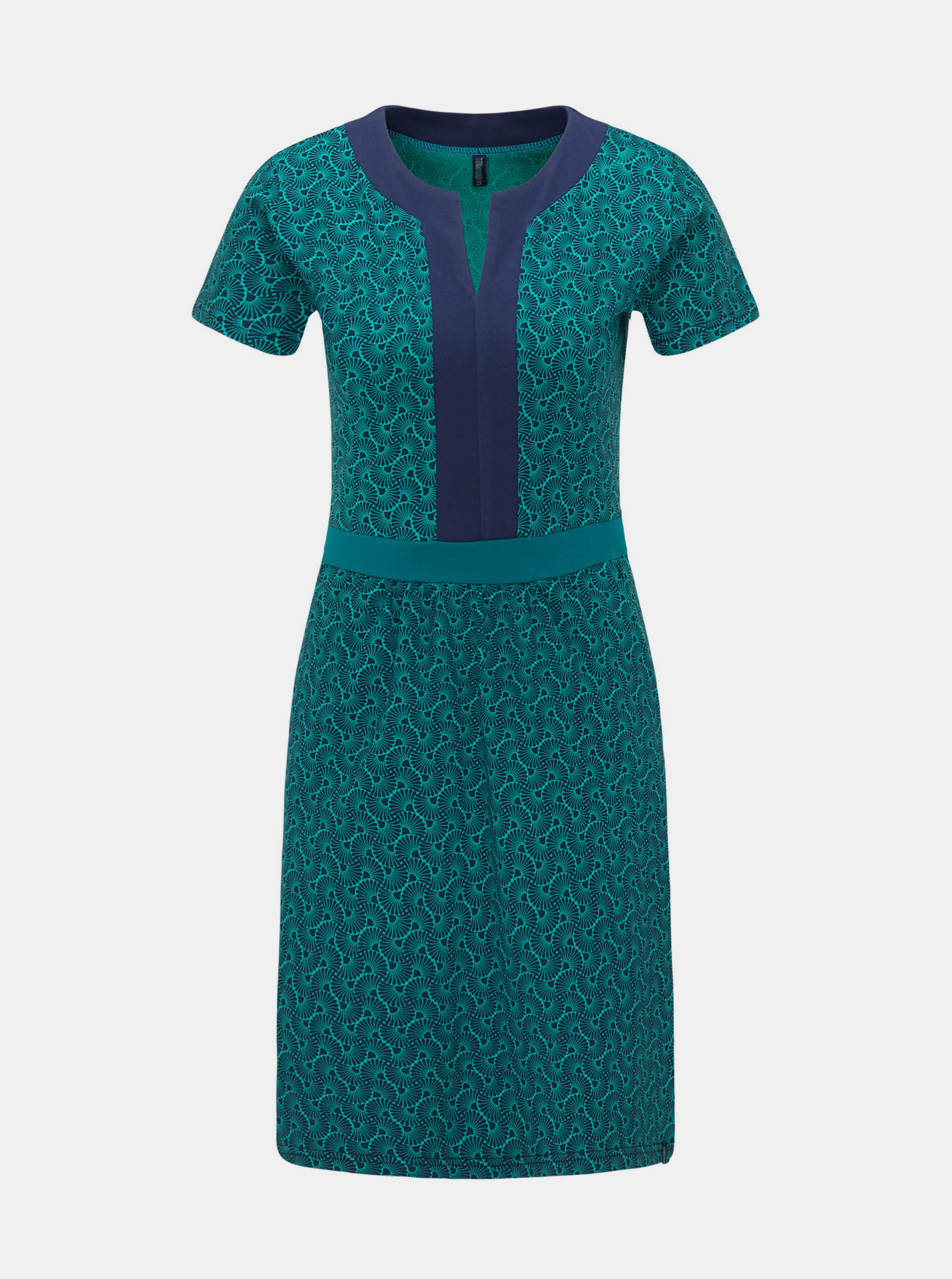 Tranquillo petroleum dress patterned