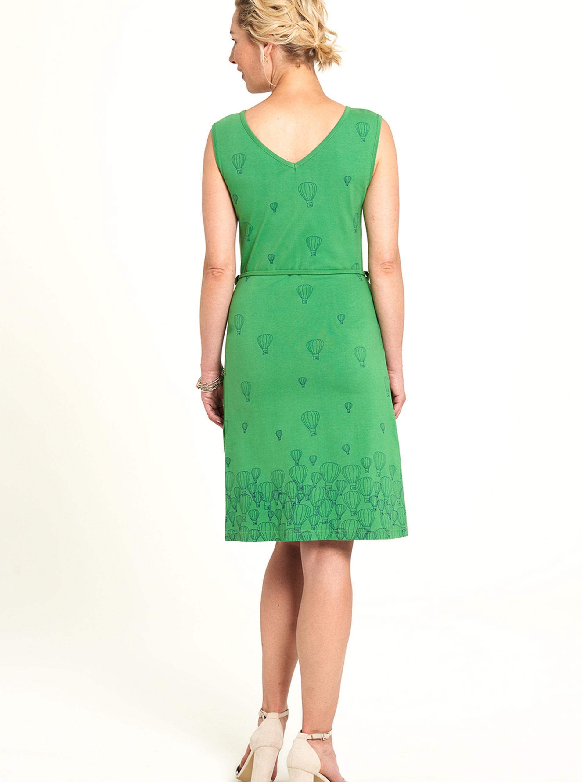 Tranquillo green dress patterned