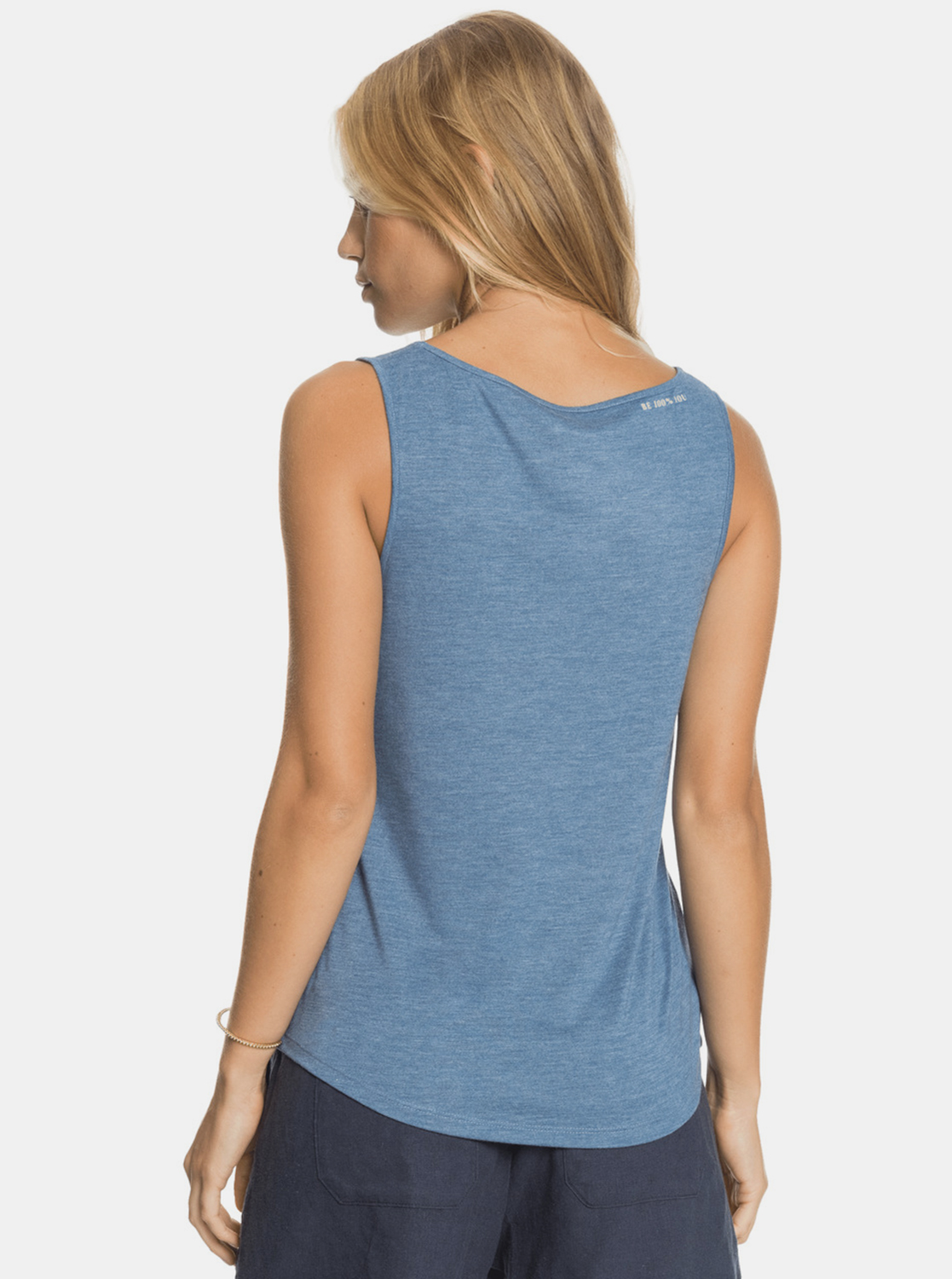 Roxy blue top with print