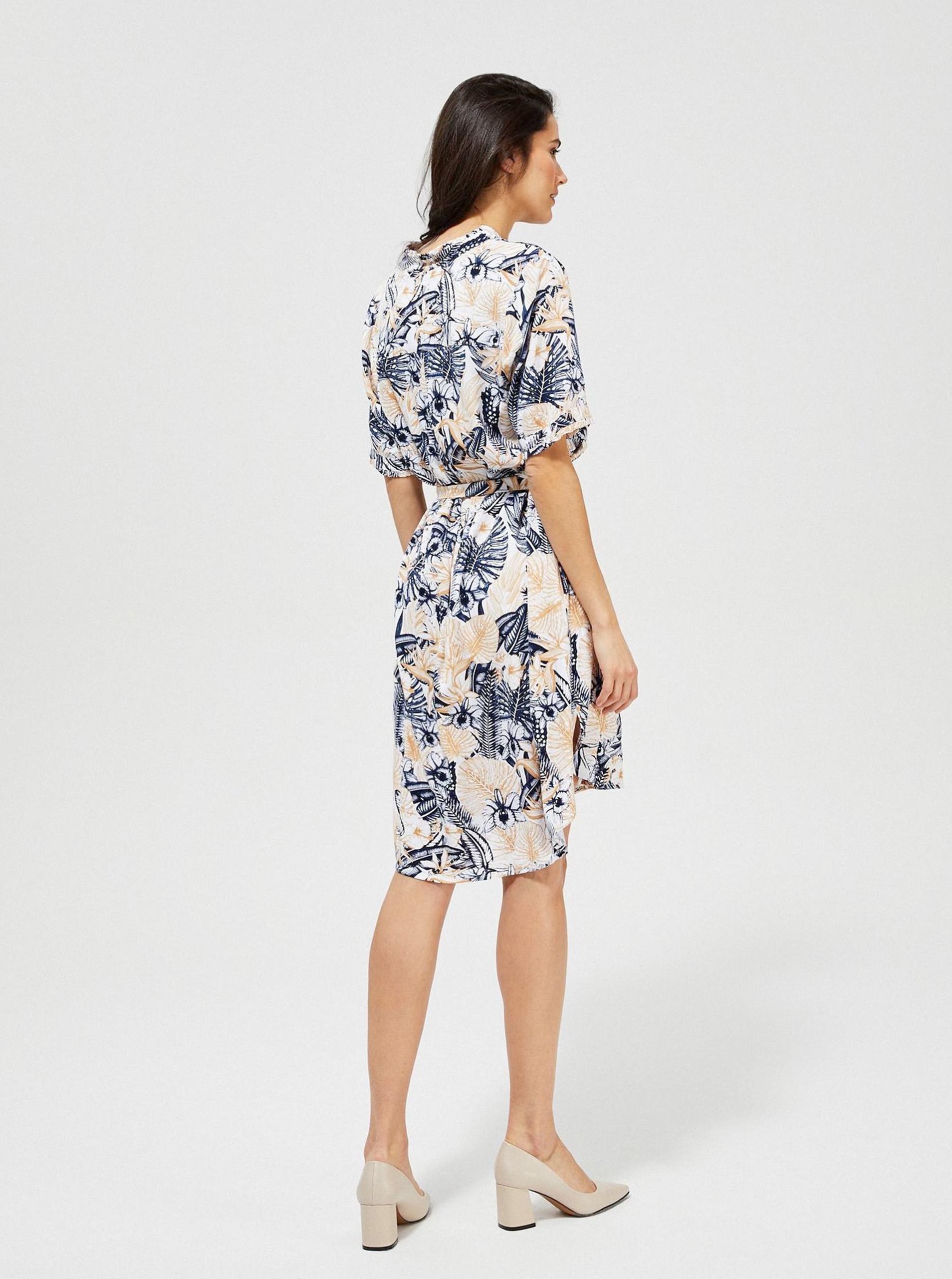 Moodo cream / cream flowered dress