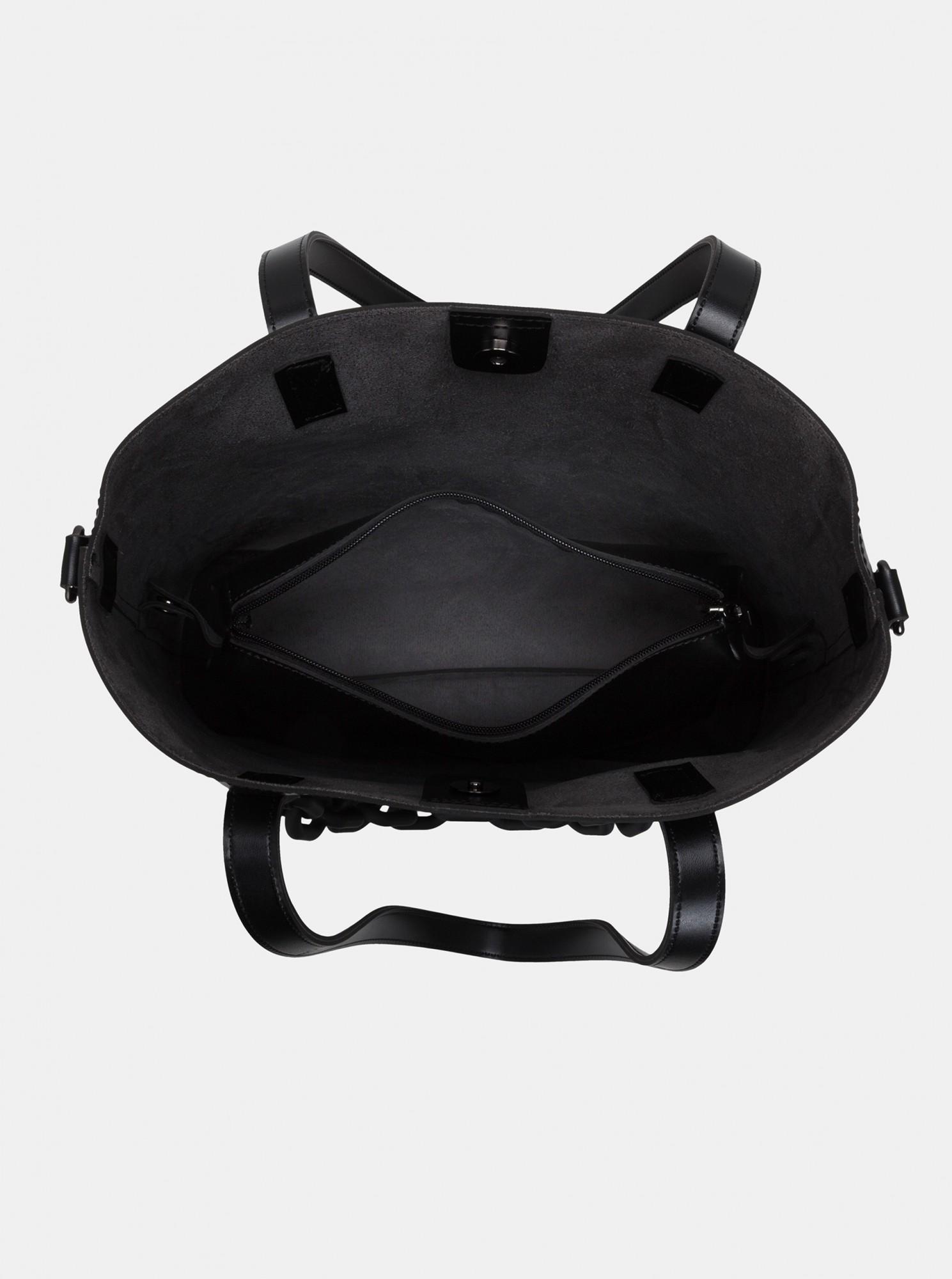 Claudia Canova black large handbag