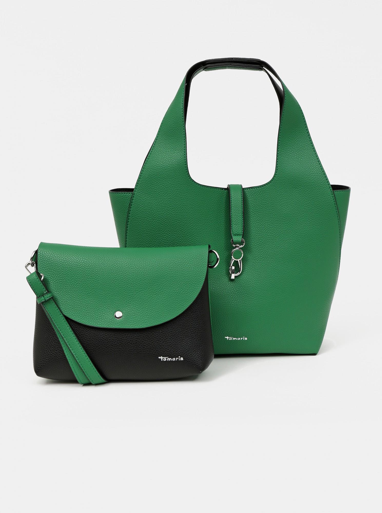 Tamaris green reversible shopper