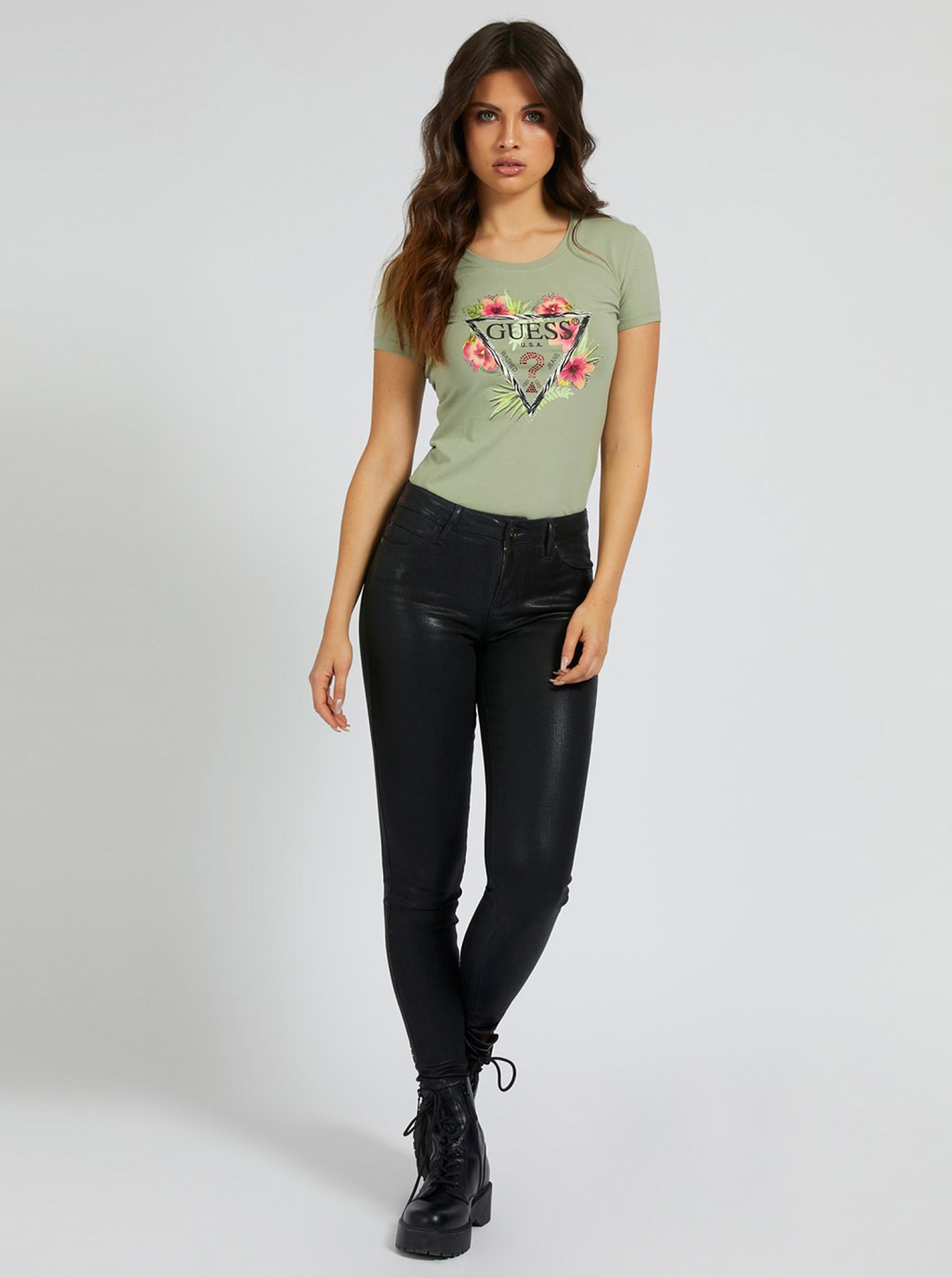 Guess Women's t-shirt khaki  Rebeca