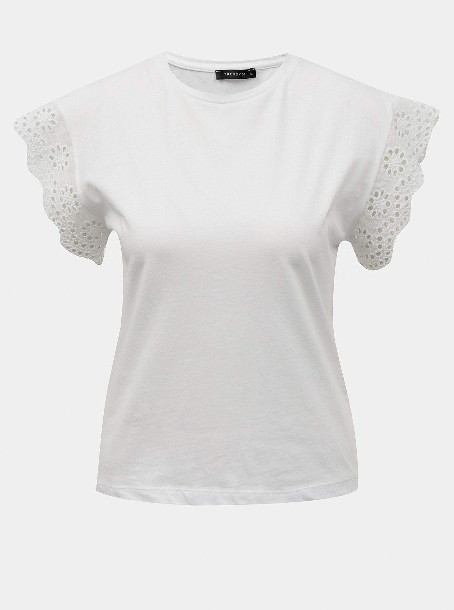 Trendyol white blouse with wood