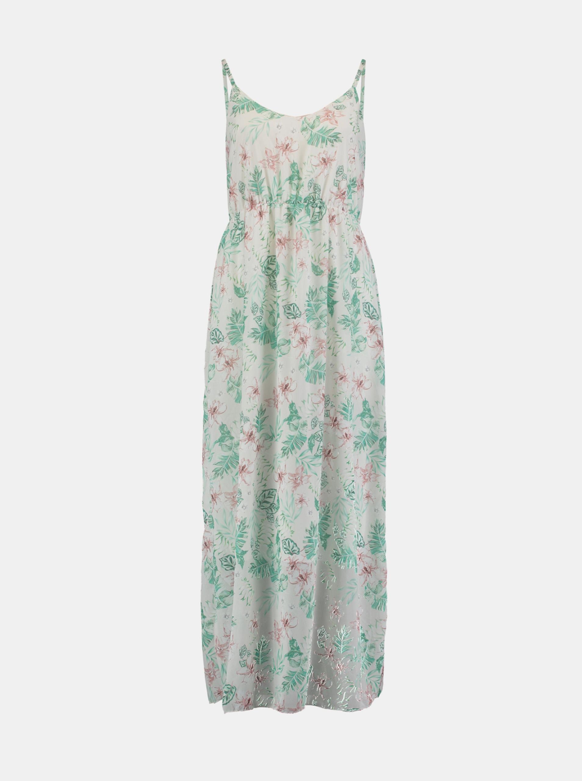 Hailys green maxi flowered dress