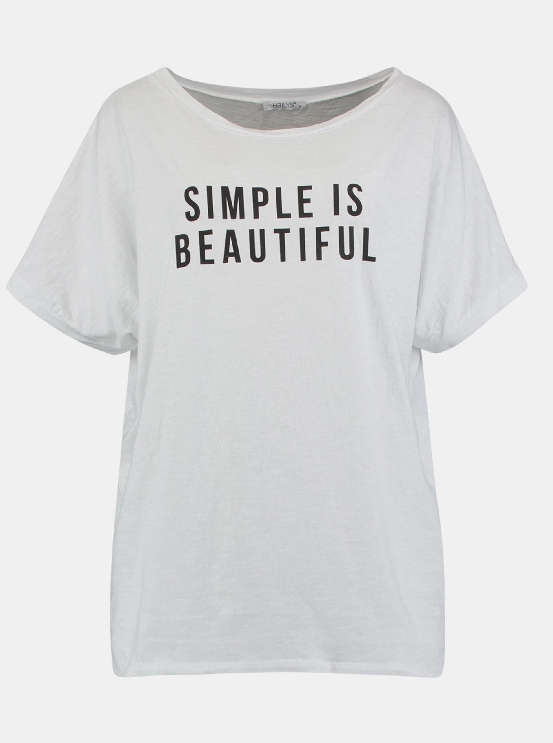 Hailys white T-shirt with print