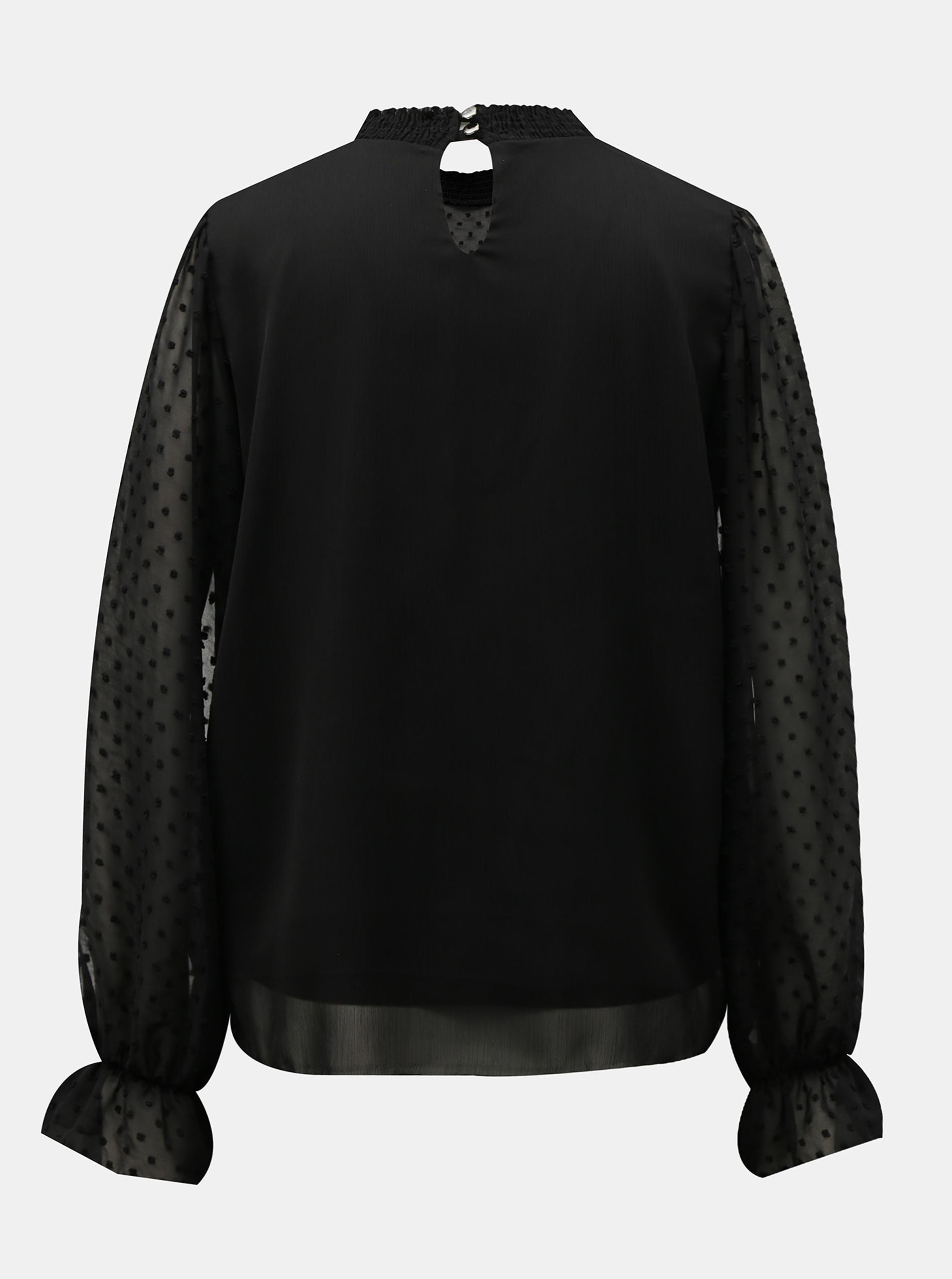 Hailys black blouse se stojáčkem