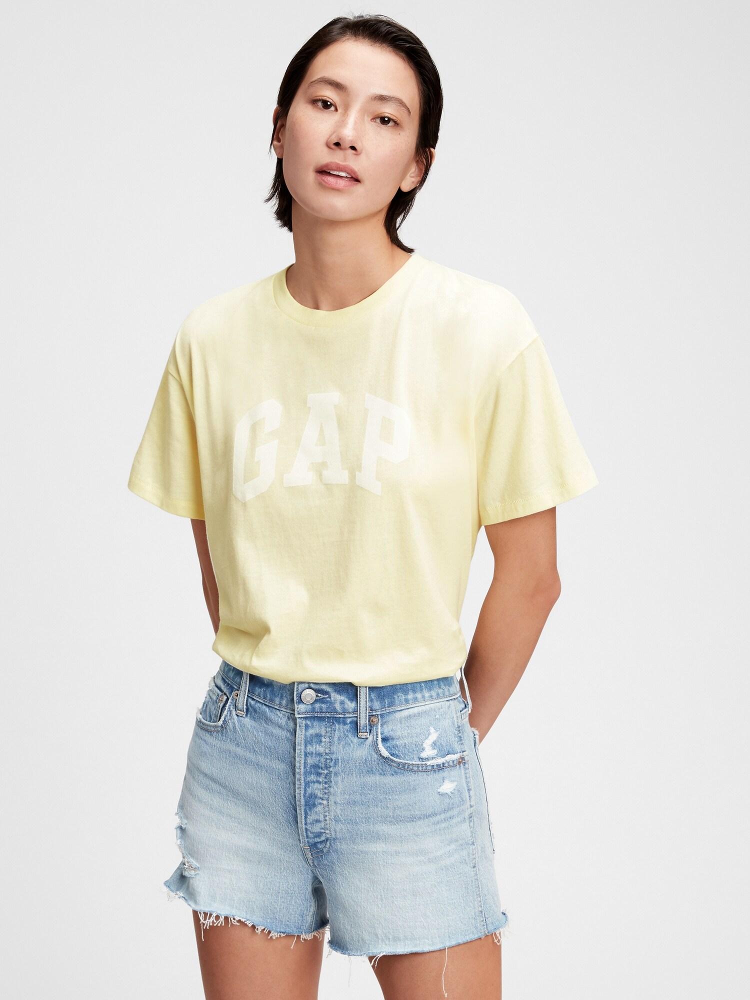 GAP Women's t-shirt yellow