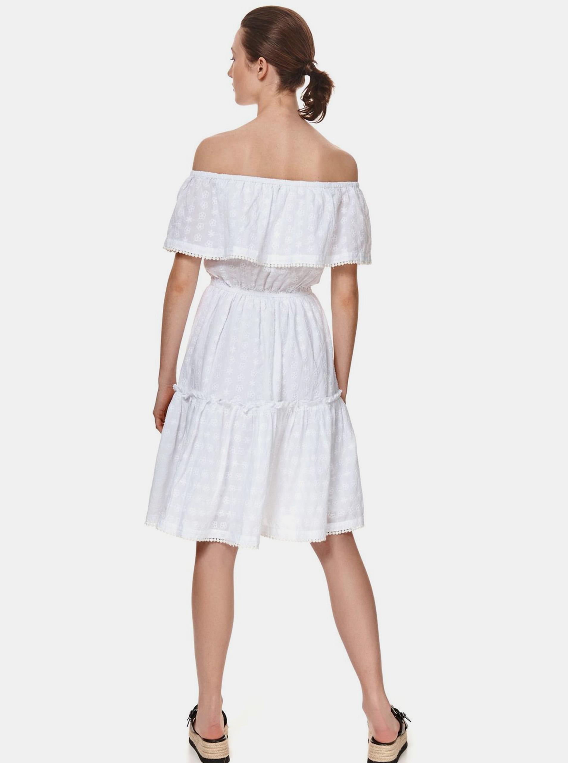 TOP SECRET white dress s odhalenými rameny