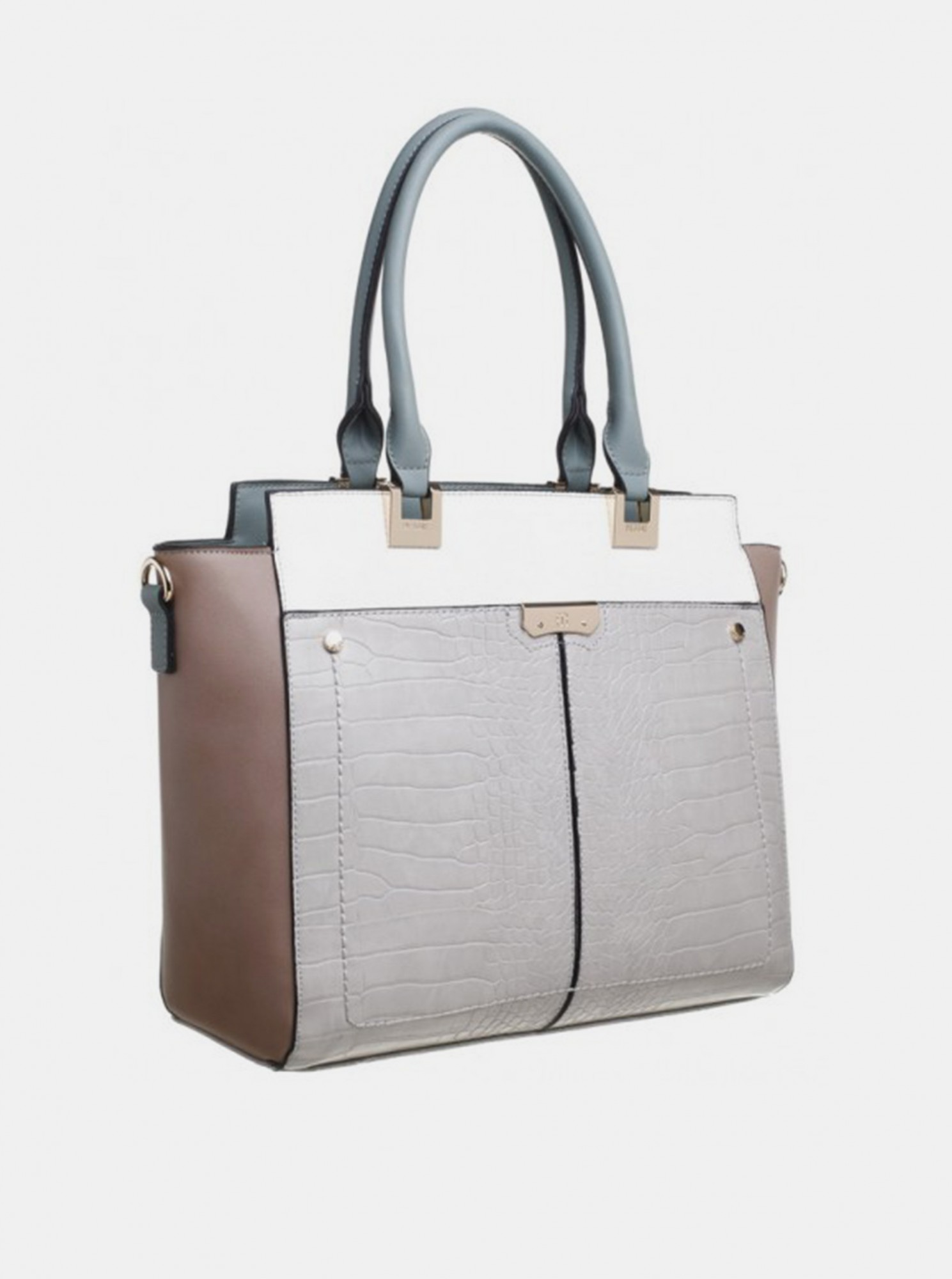 Bessie London grey handbag