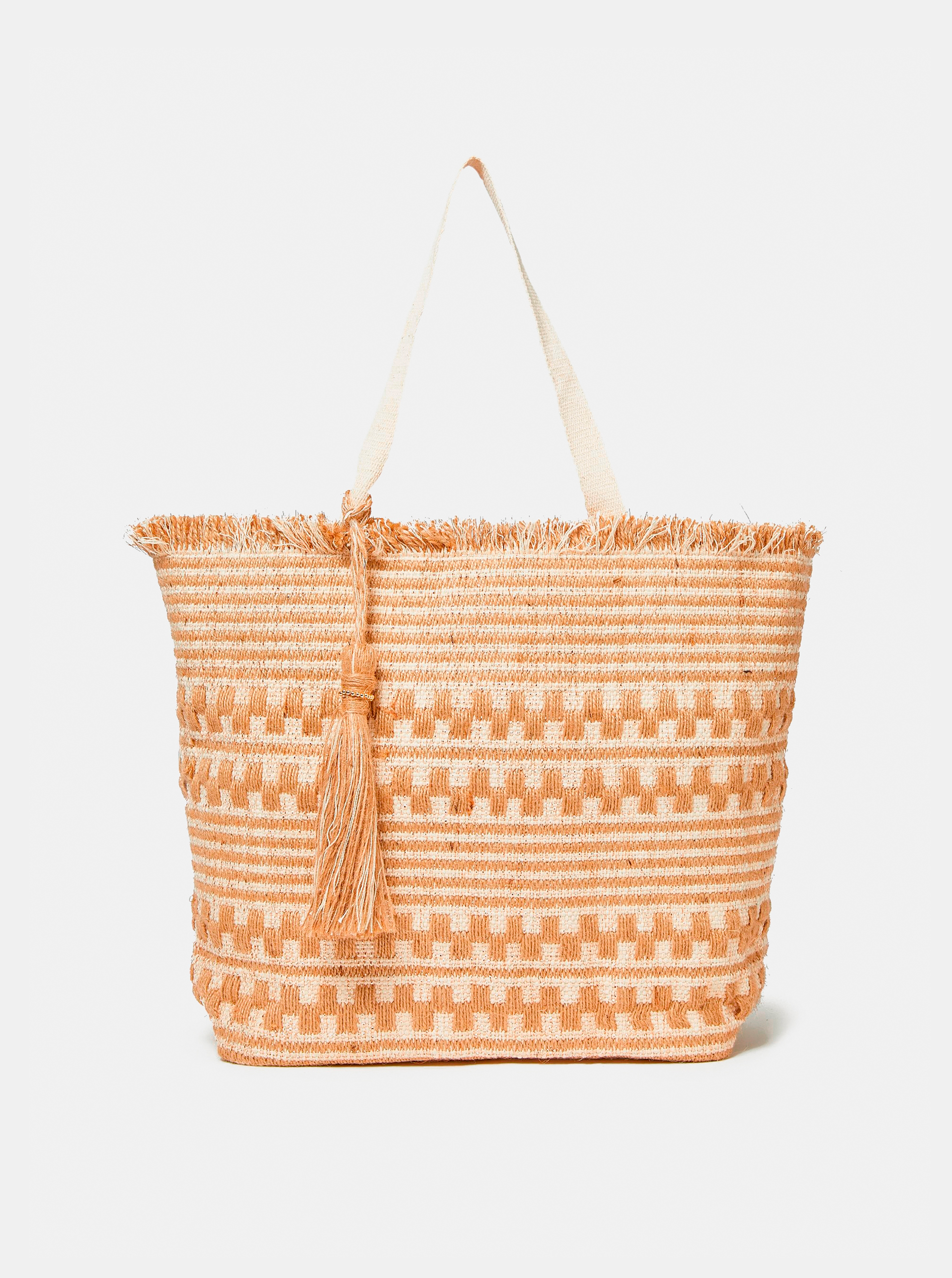 Dorothy Perkins beige jutová handbag