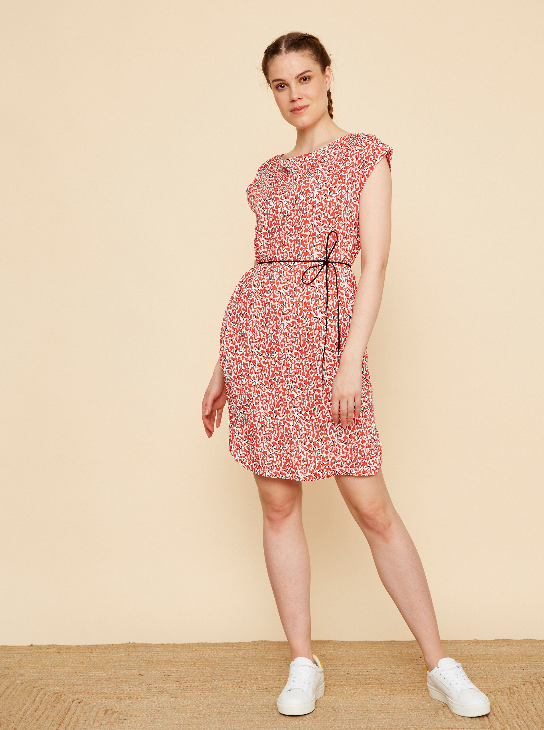 ZOOT red flowered dress Aimee