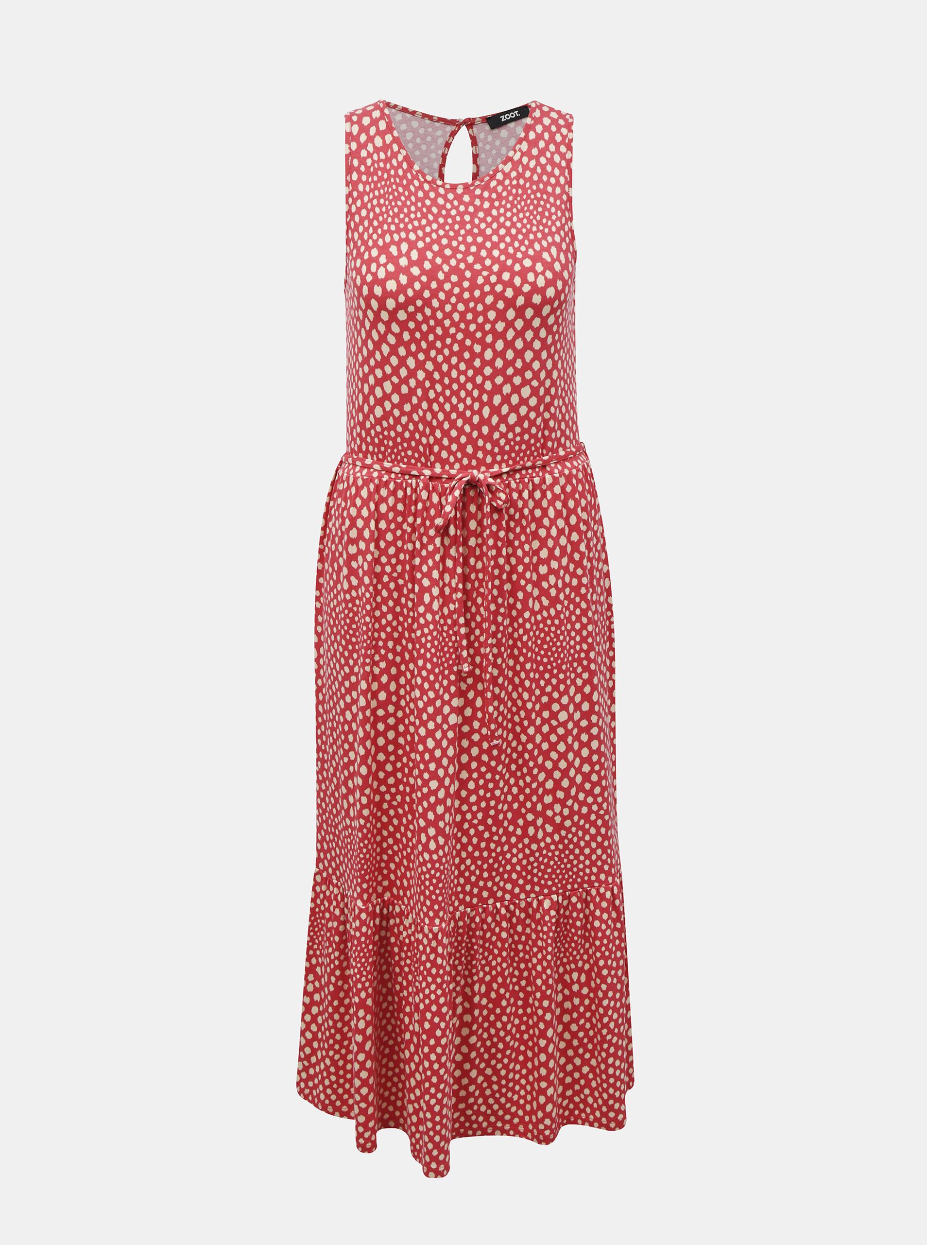 ZOOT red midi dress Zula patterned