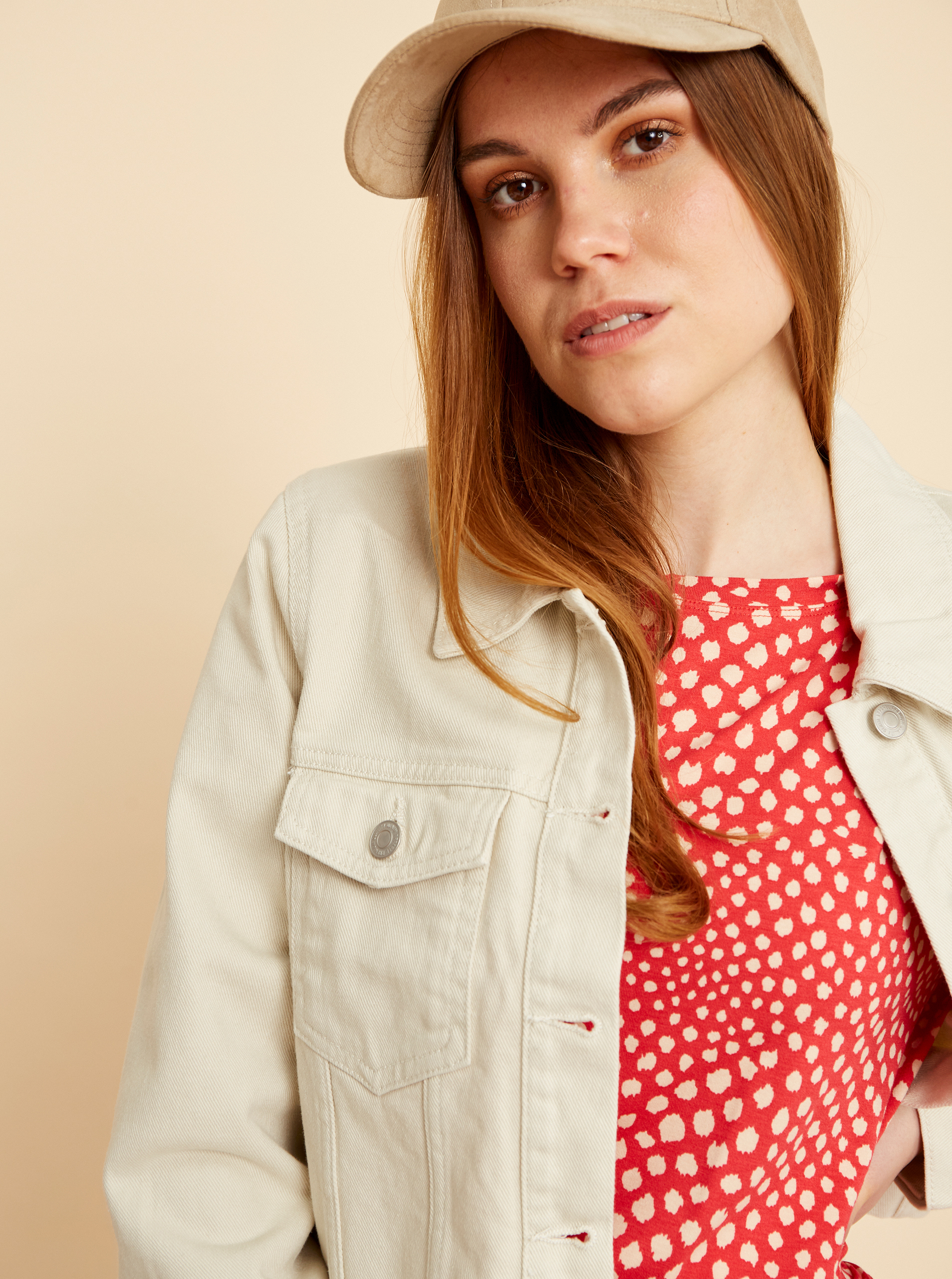 ZOOT red T-shirt Normandie with pattern