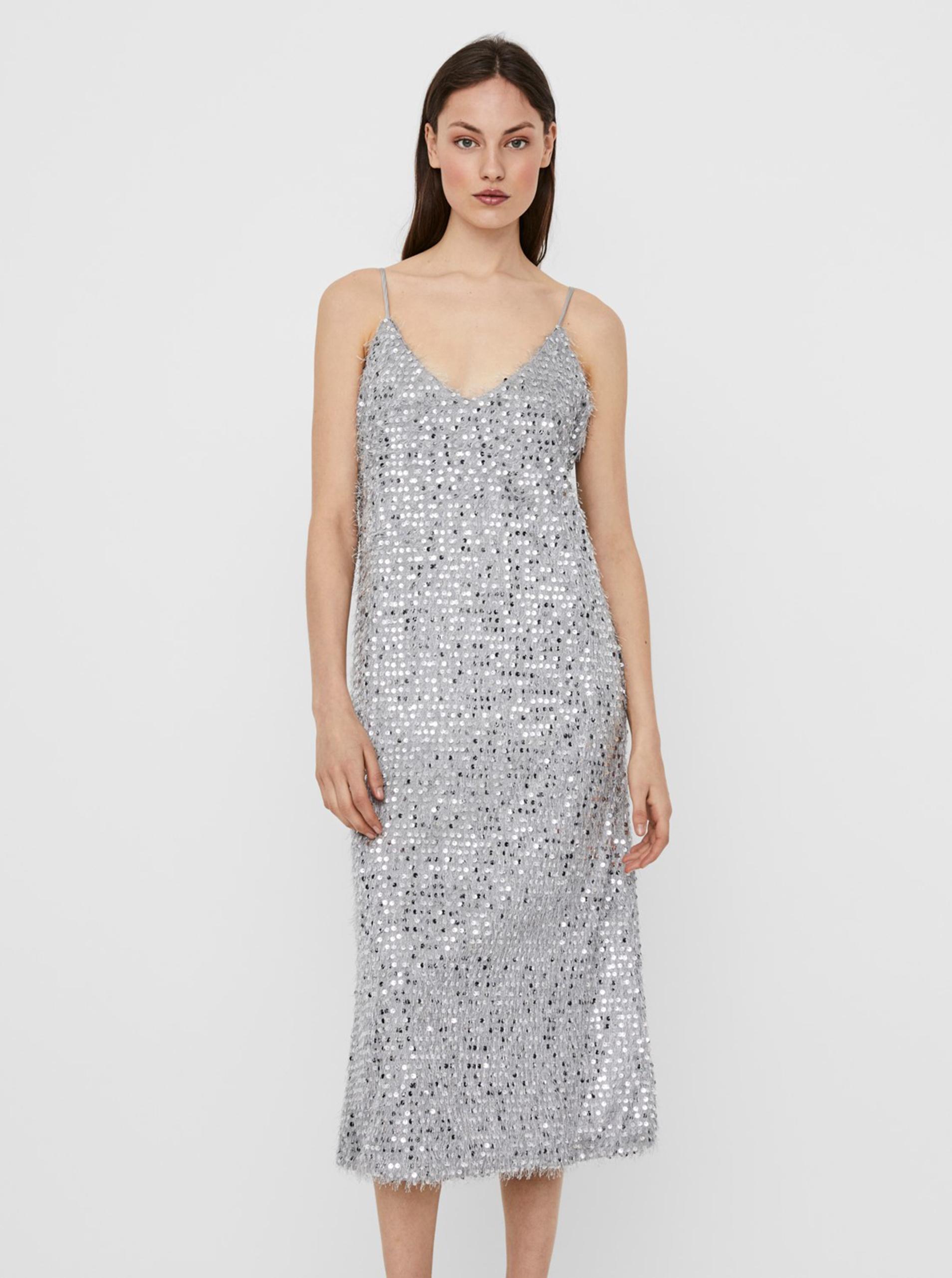 Vero Moda silver midi dress Kalmia
