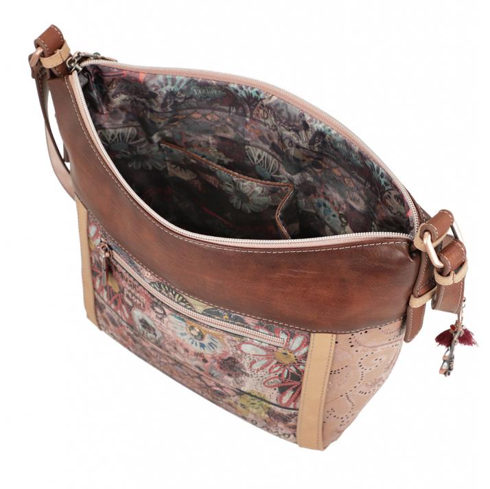 Anekke brown crossbody handbag Ixchel Music