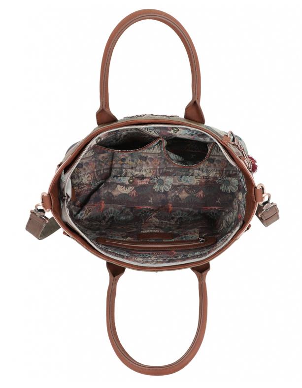 Anekke brown handbag Ixchel Music