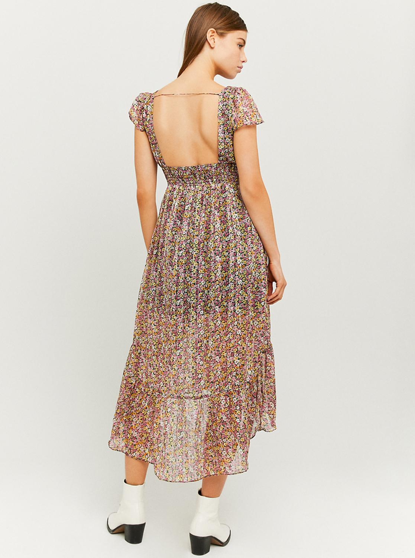 Tally Weijl purple midi flowered dress