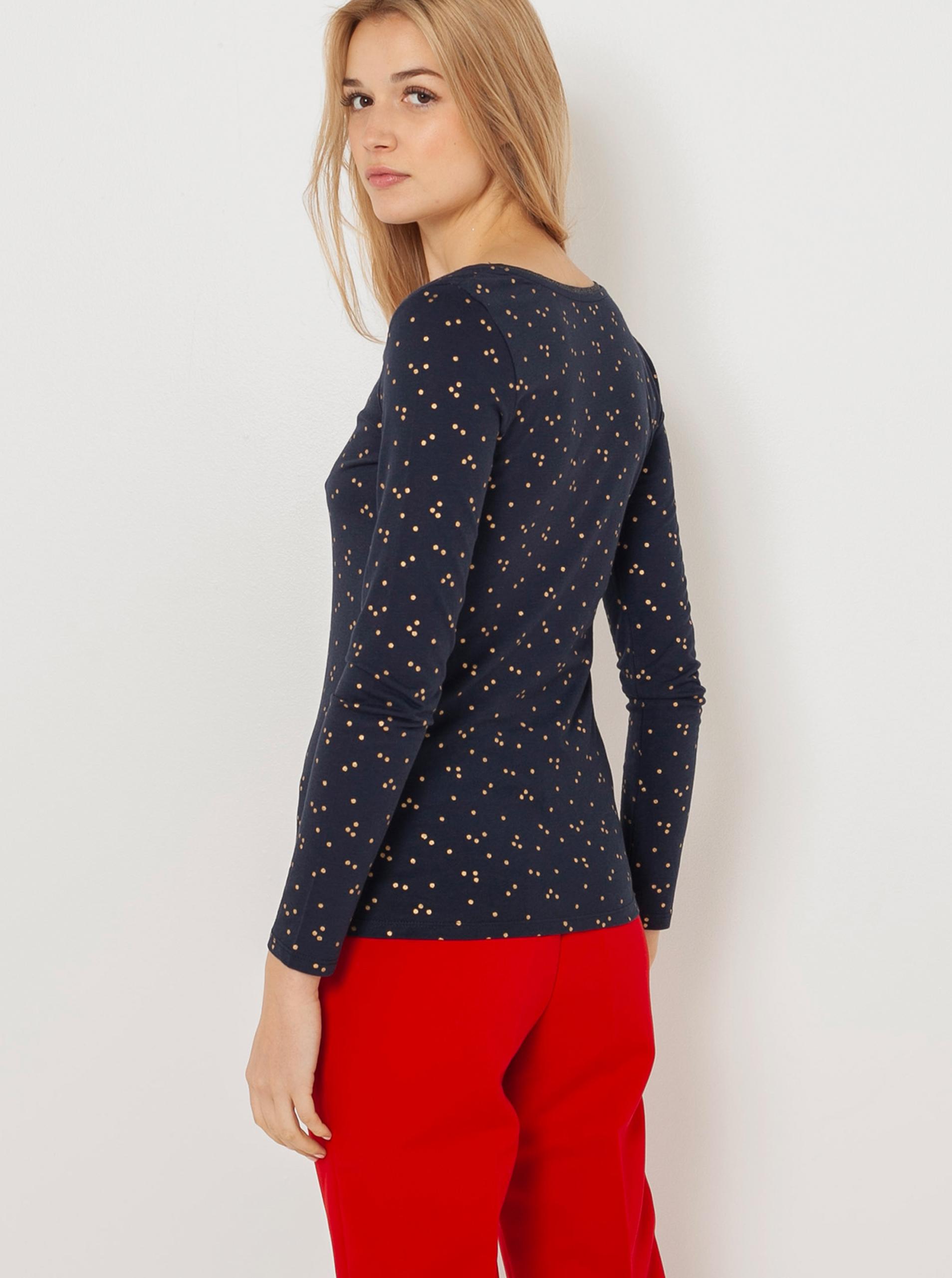 CAMAIEU blue T-shirt with pattern