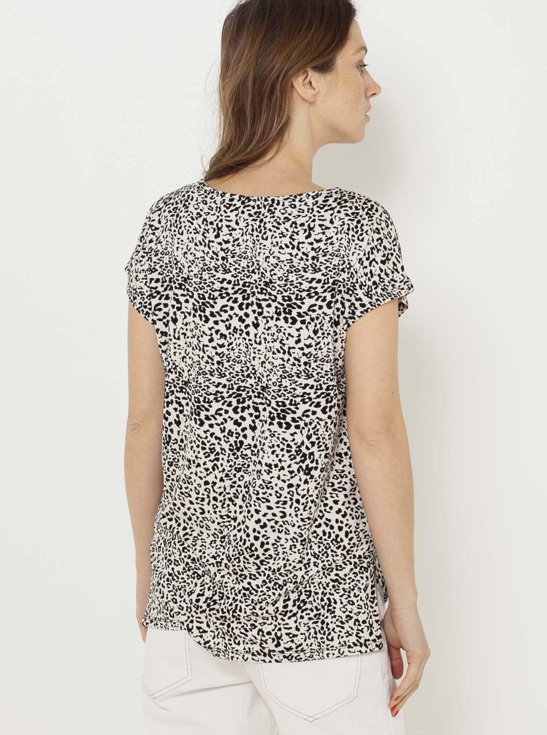CAMAIEU beige blouse with pattern