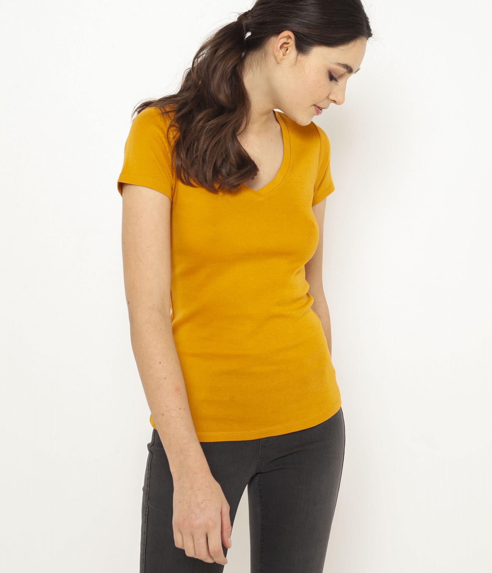 CAMAIEU Women's t-shirt mustard