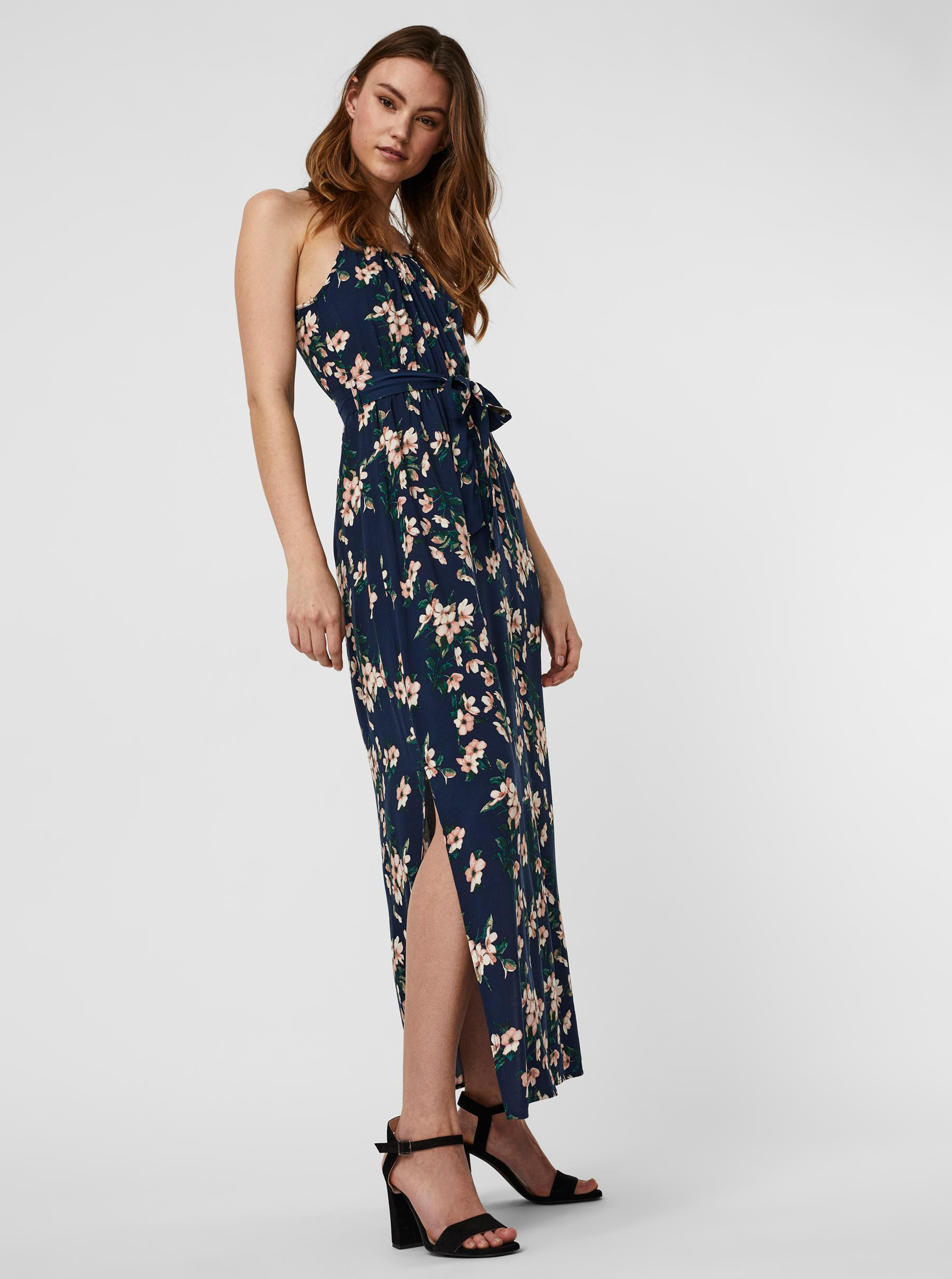Vero Moda blue flowered maxi dress Simply