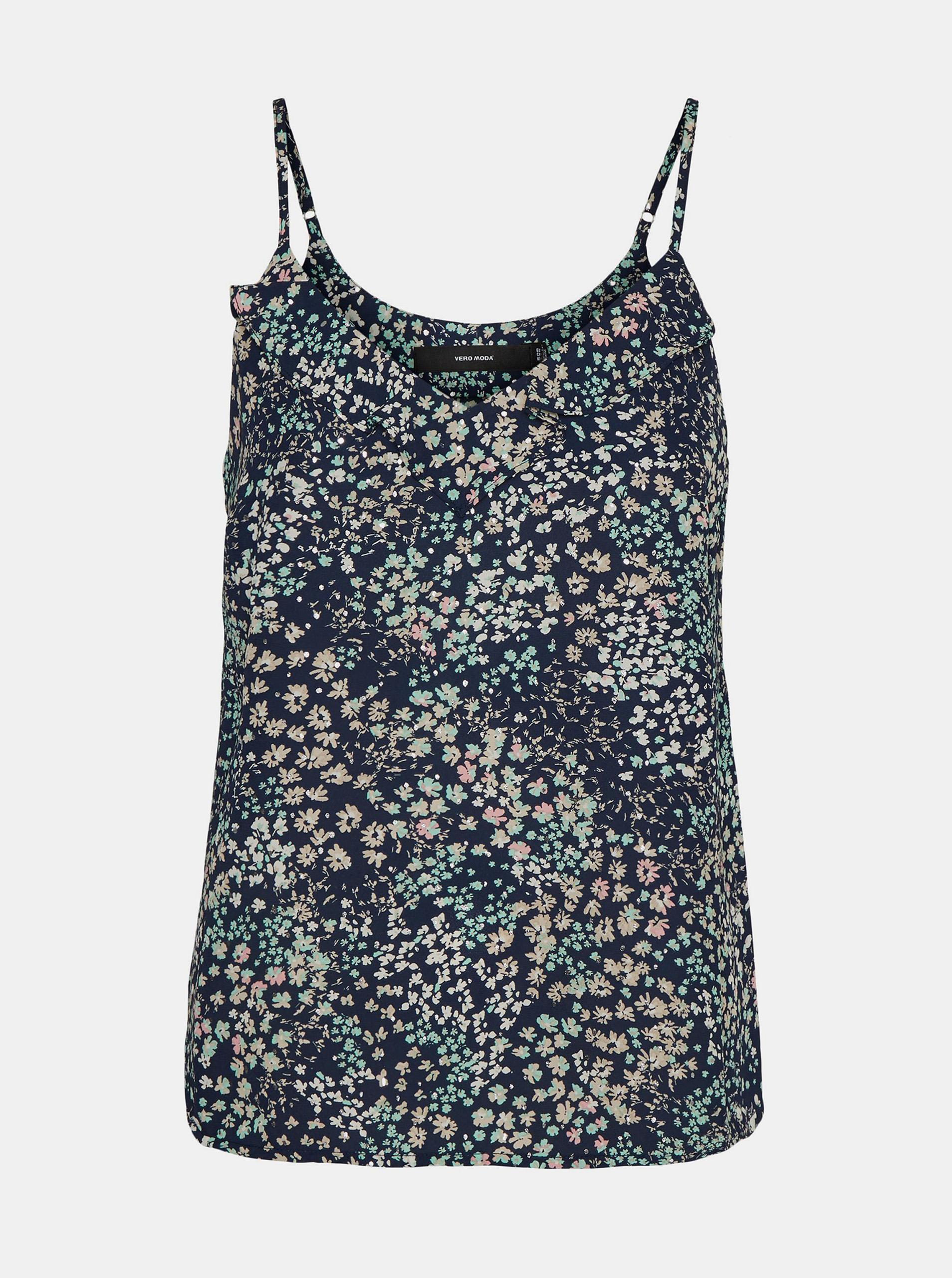 Vero Moda blue top Hannah with floral motif