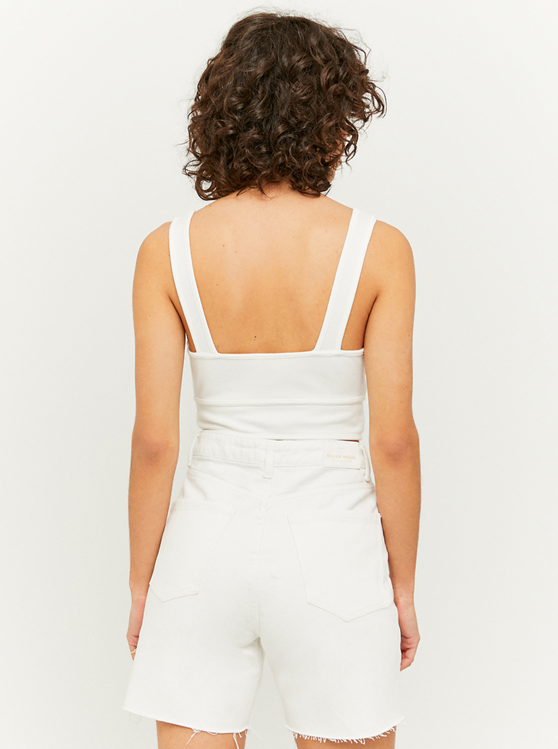 Tally Weijl white crop top with cutouts