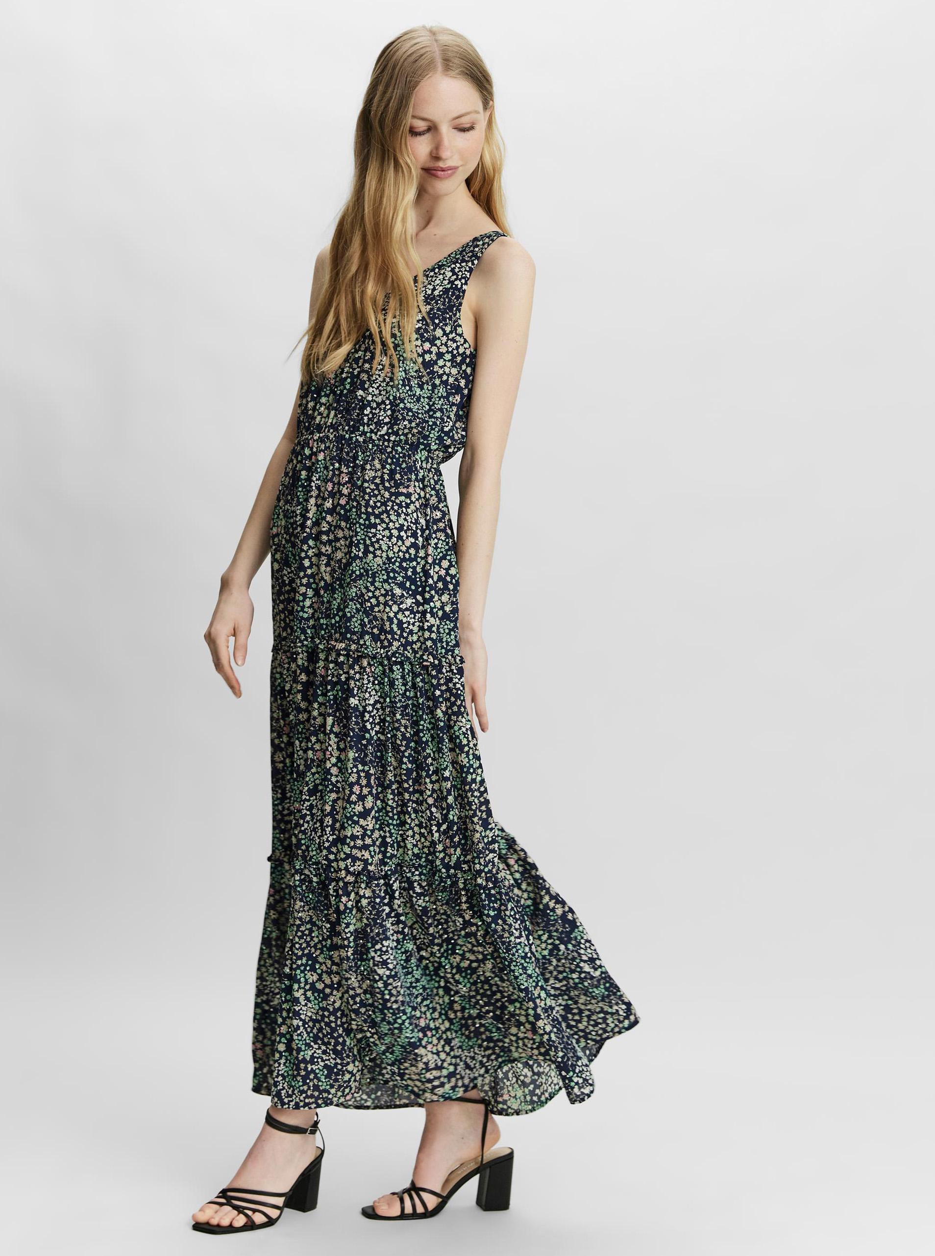 Vero Moda blue flowered maxi dress Hannah