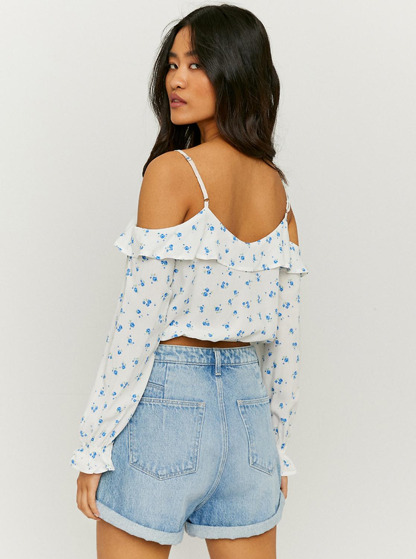 Tally Weijl white crop blouse