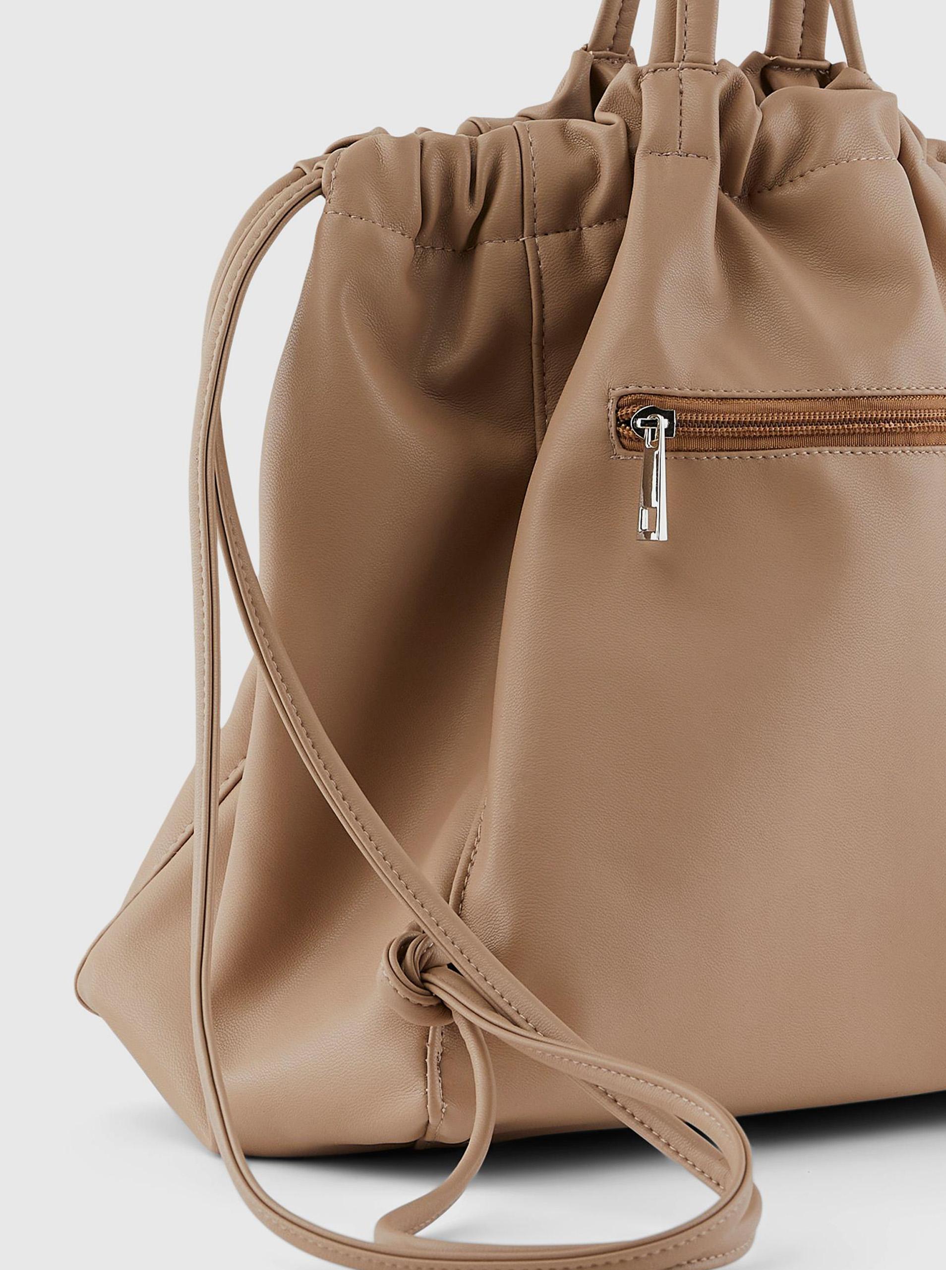 Pieces beige drawstring bag Talli