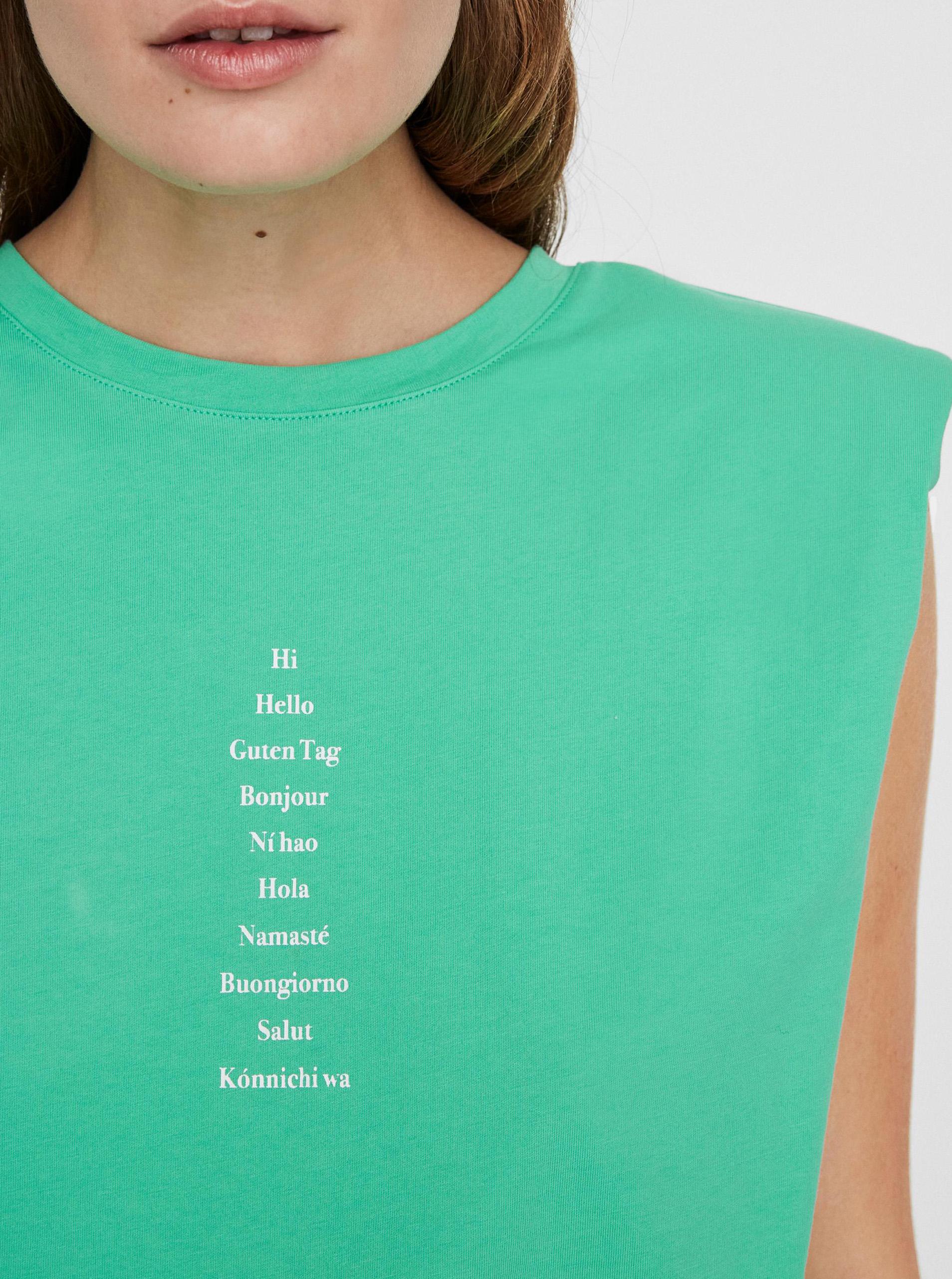 Vero Moda green T-shirt Hollie