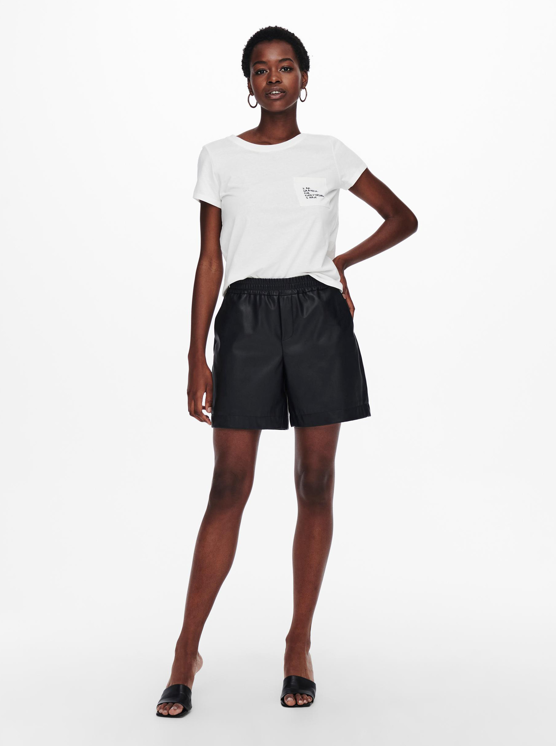 Jacqueline de Yong white T-shirt Dina