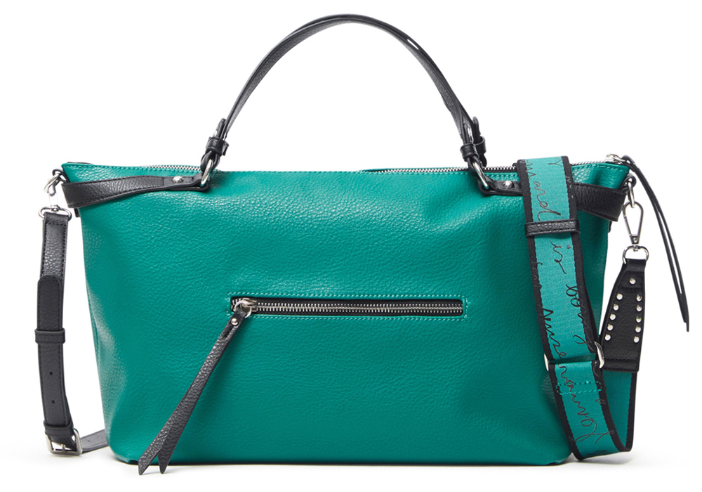 Desigual green handbag Embossed Half Libia