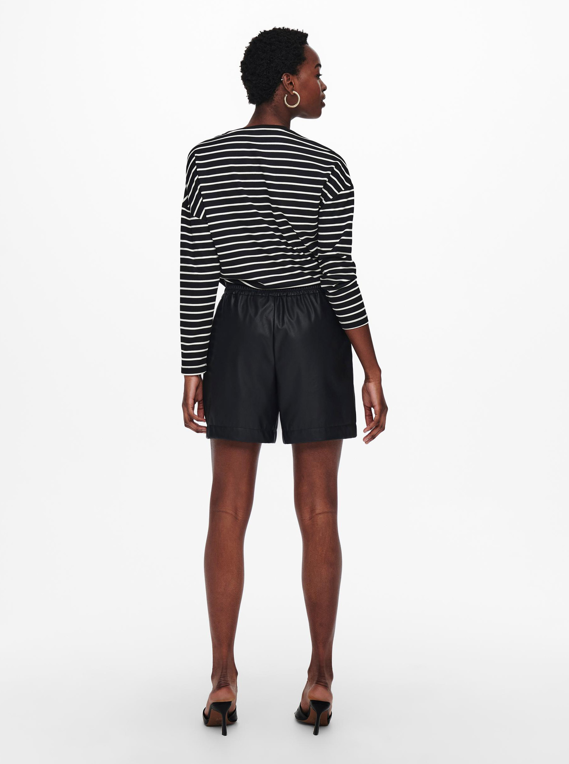 Only black striped T-shirt Brilliant