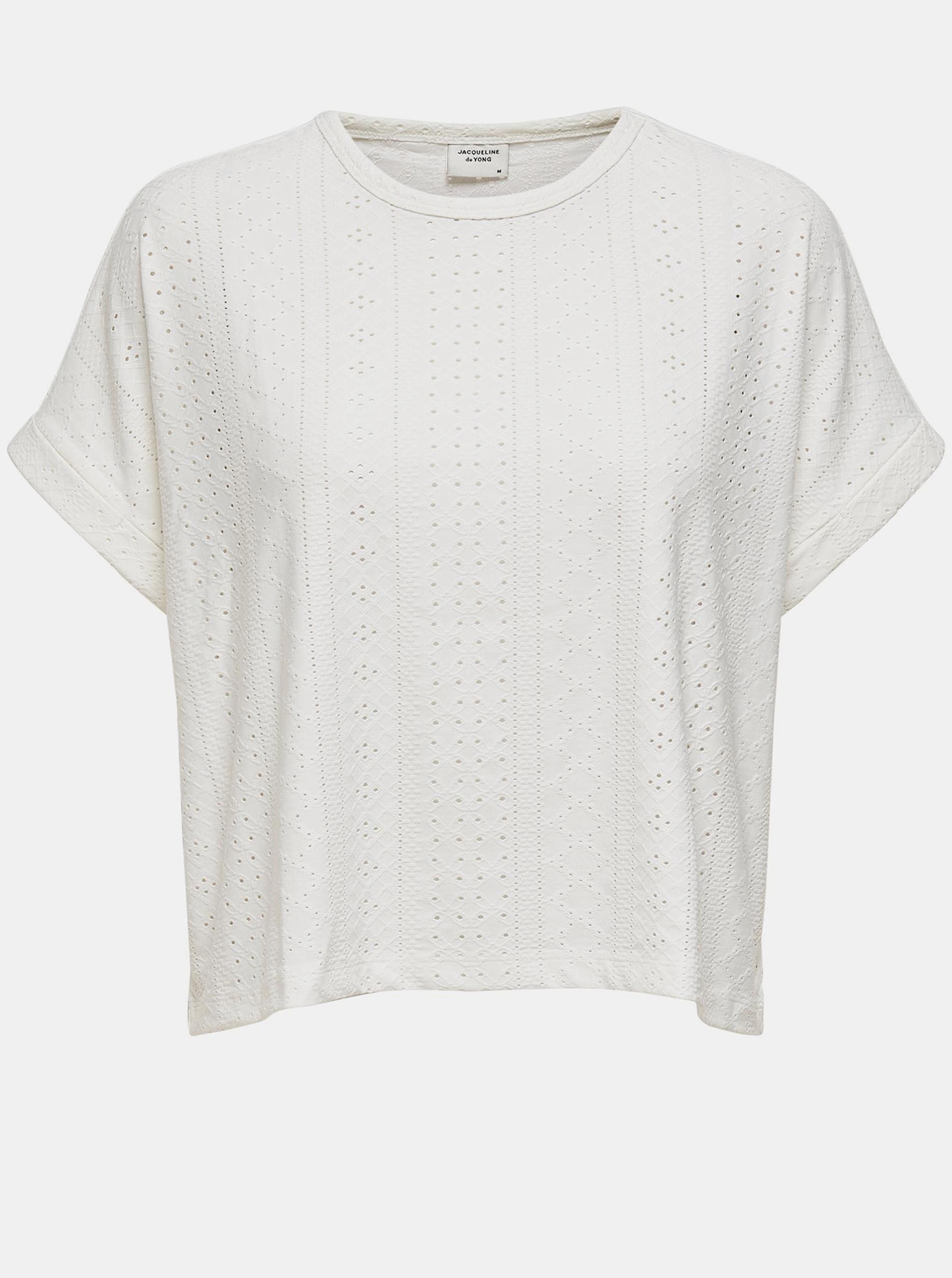 Jacqueline de Yong white T-shirt Fatinka