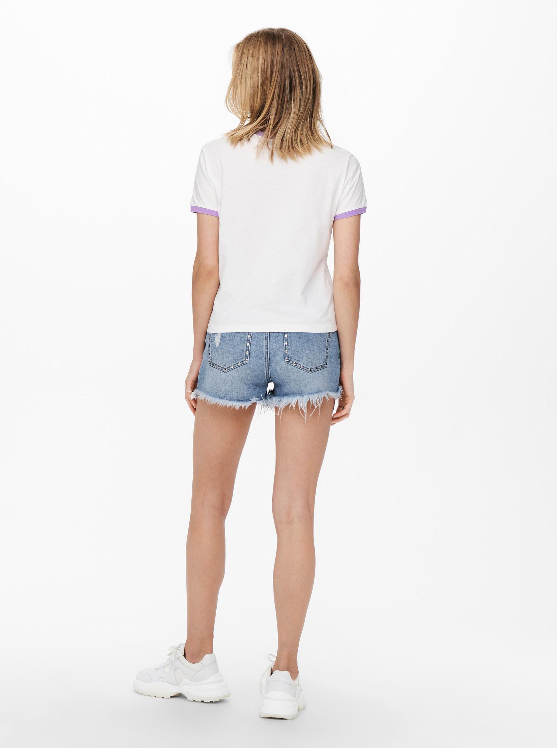 Jacqueline de Yong white T-shirt Nuka with print