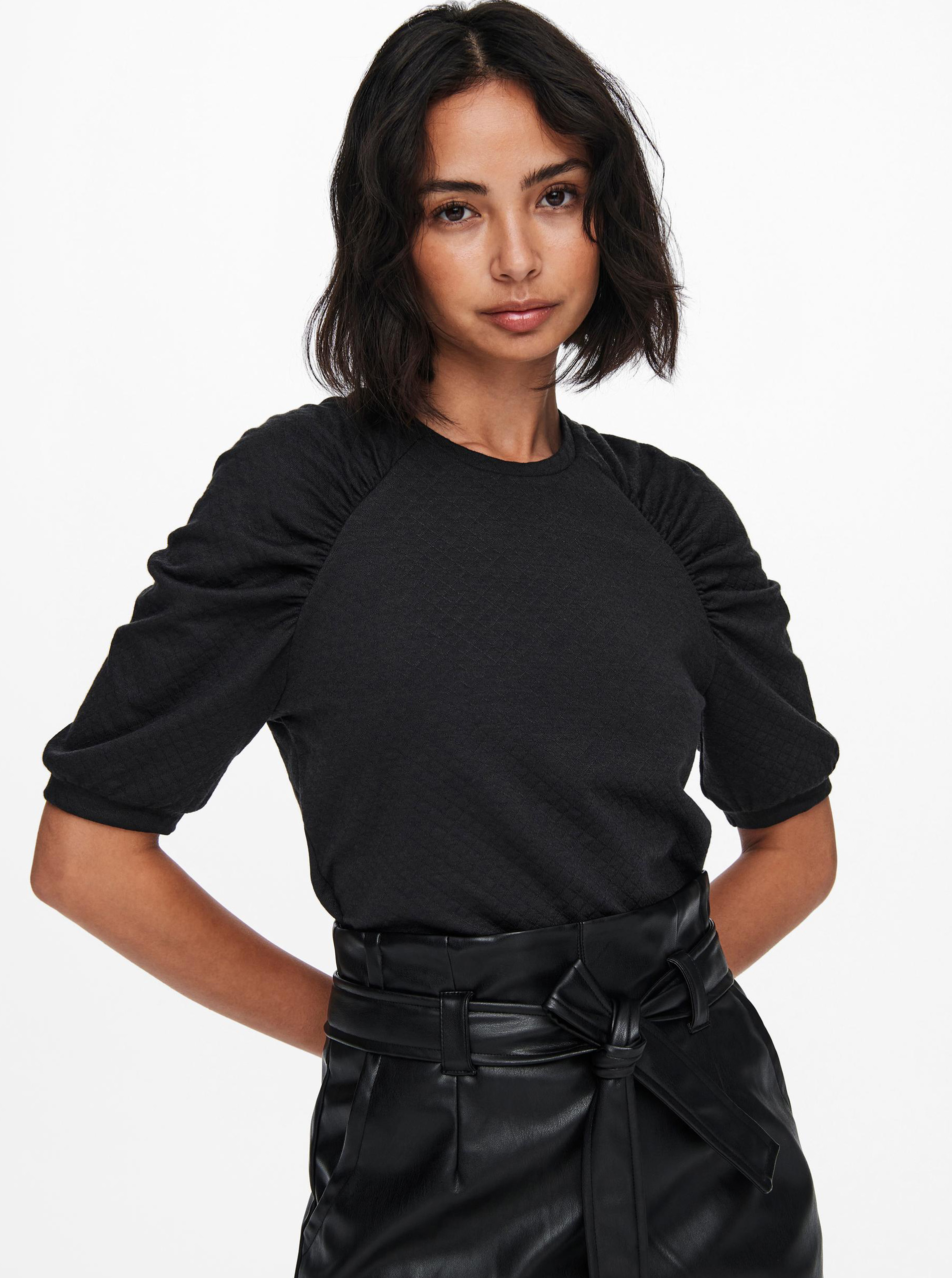 Jacqueline de Yong grey blouse Gloria