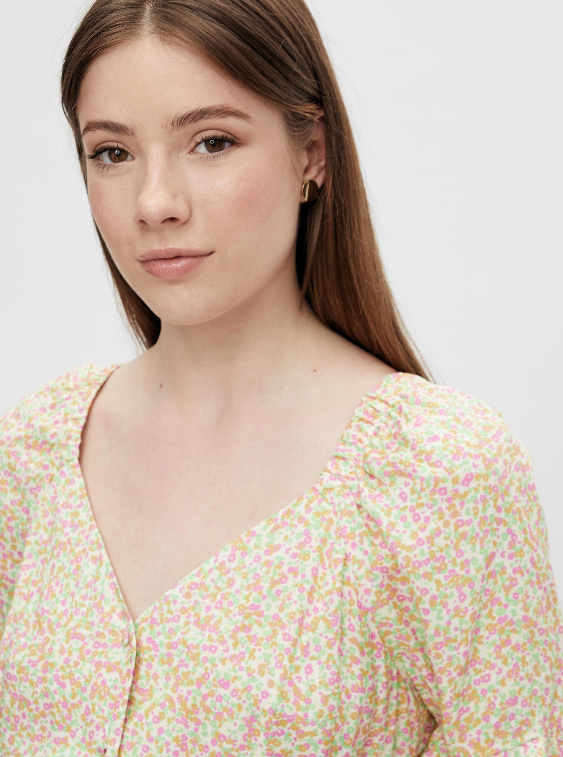 Pieces cream / cream flowered dress Timberly