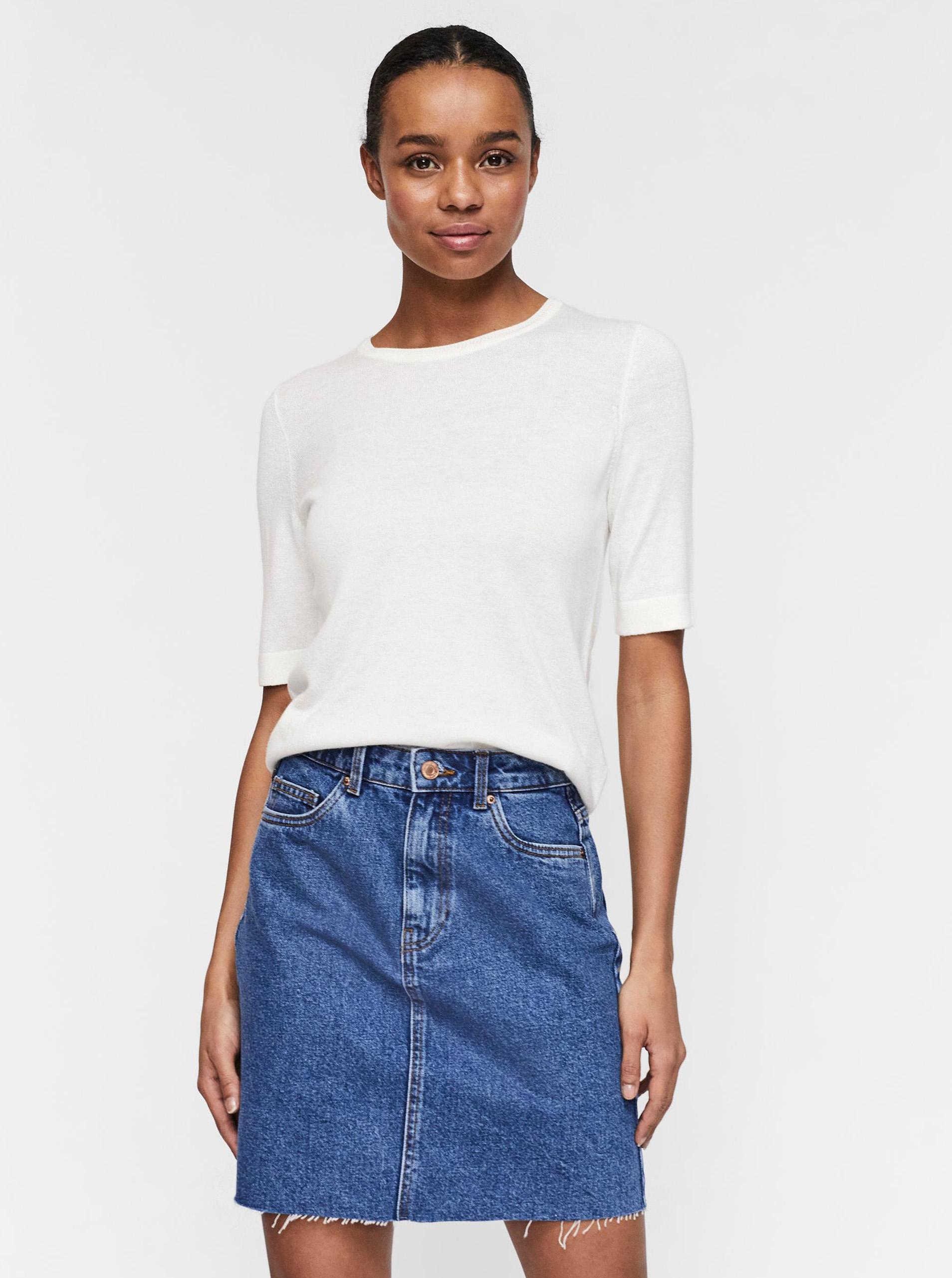 Vero Moda cream / cream T-shirt Silke