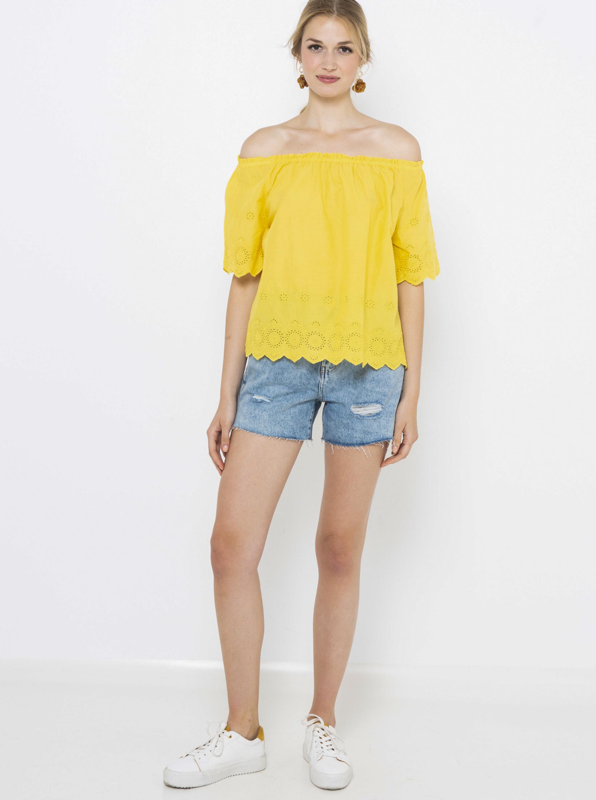 CAMAIEU yellow blouse
